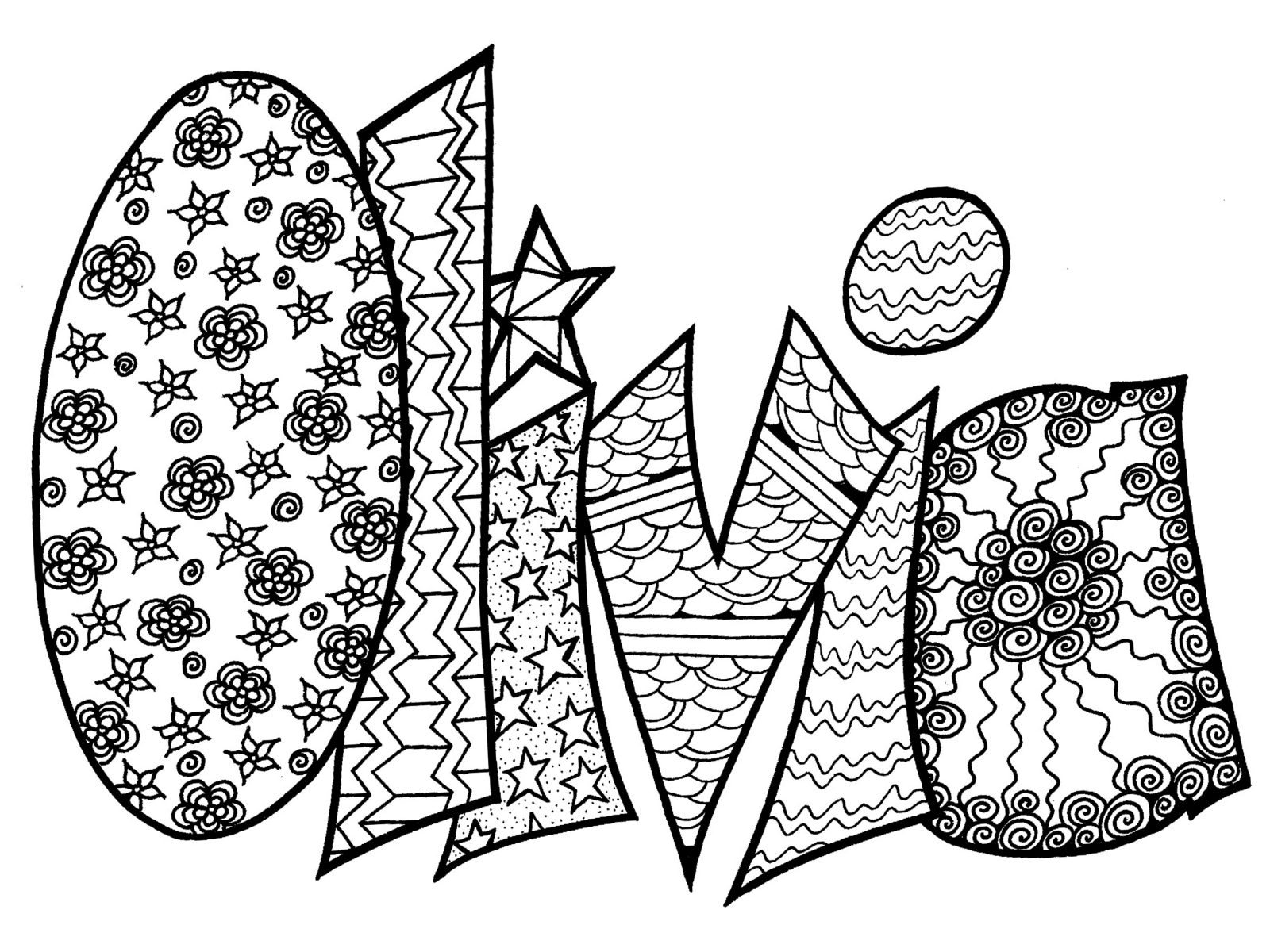 Custom Name Coloring Pages At Getcolorings