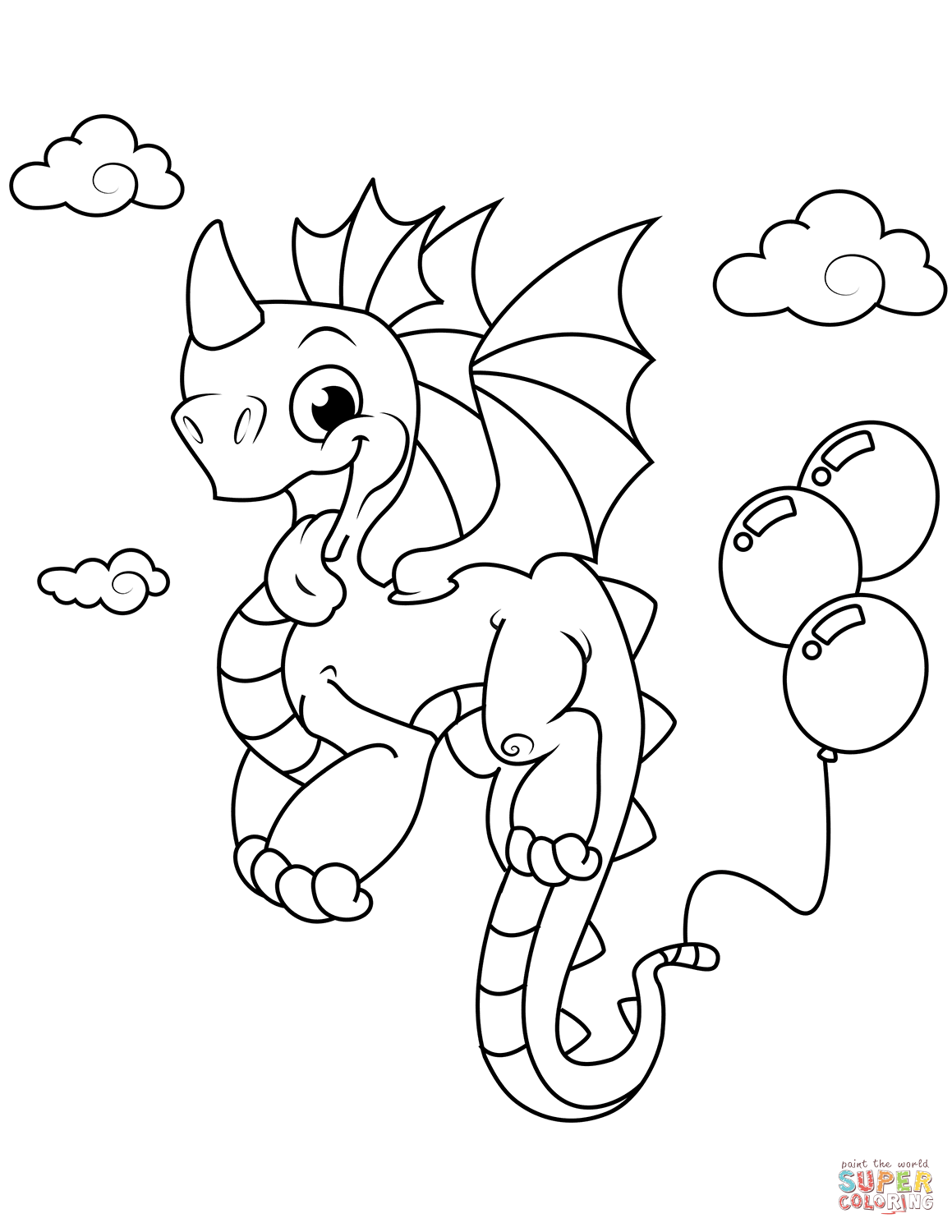 Cute Baby Dragon Coloring Pages At Getcolorings