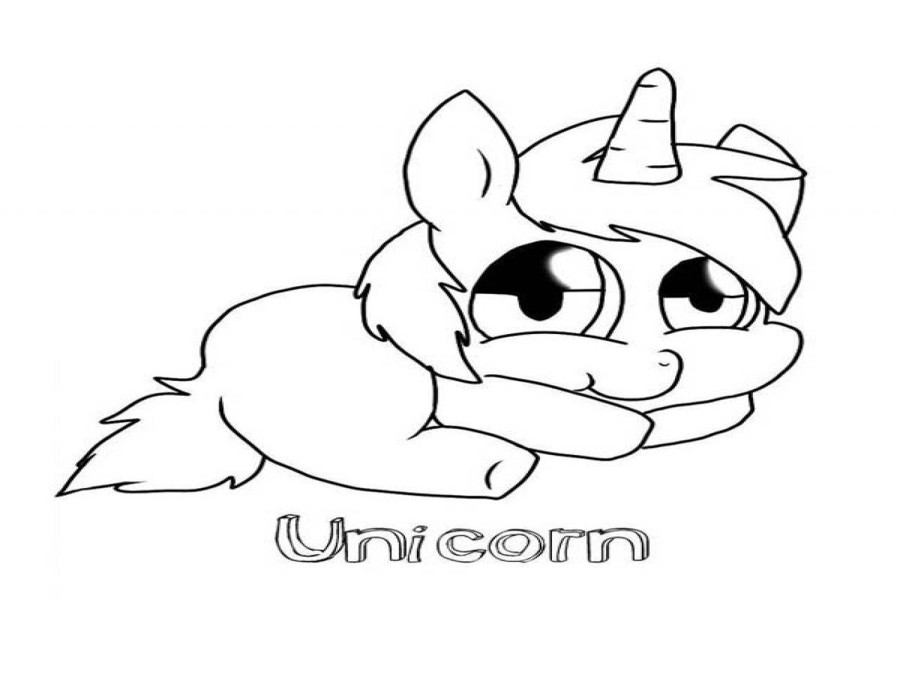 Cute Baby Unicorn Coloring Pages At Getcolorings