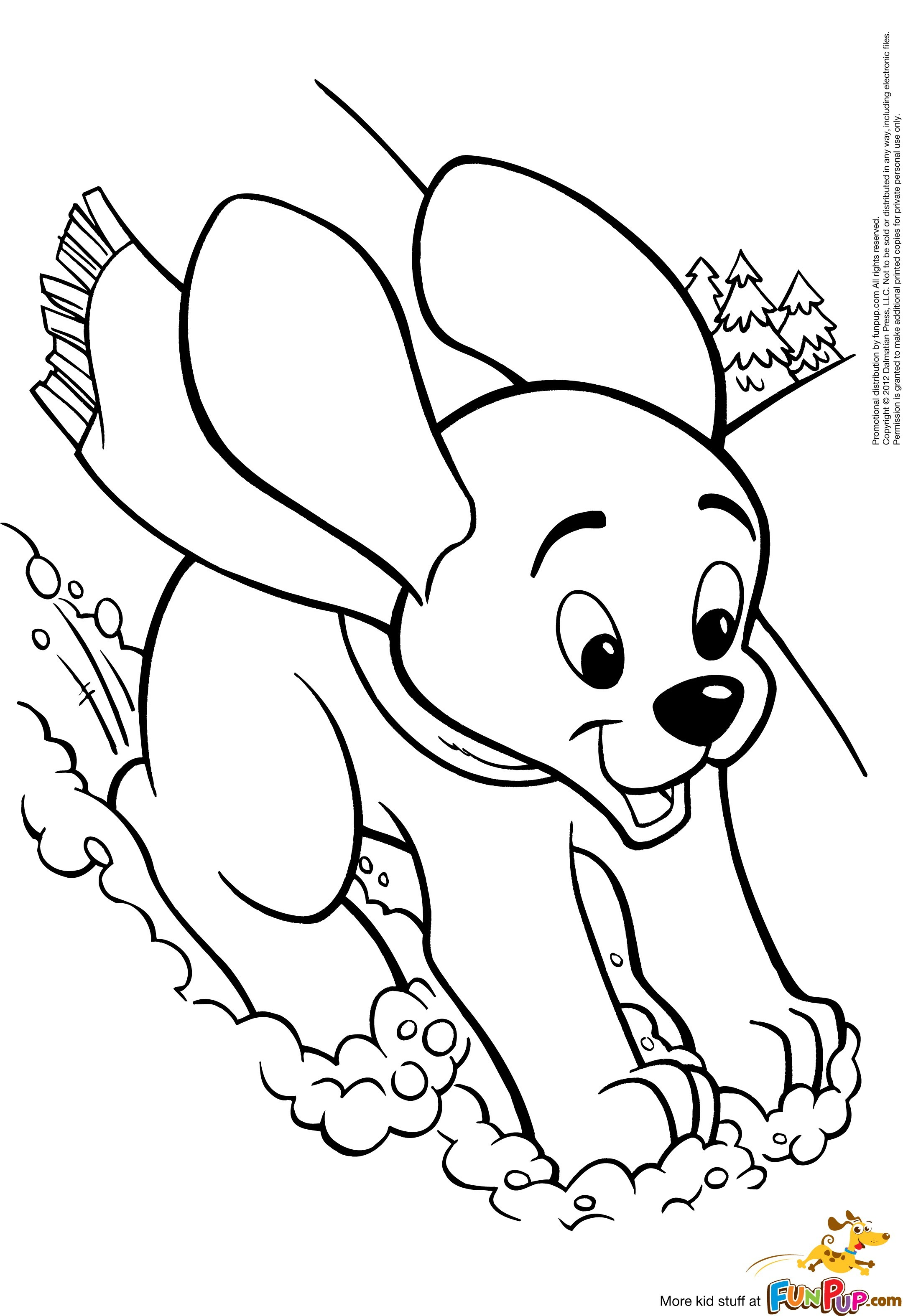 Cute Dog Coloring Pages For Kids At Getcolorings