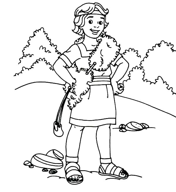 david the shepherd boy coloring pages at getcolorings