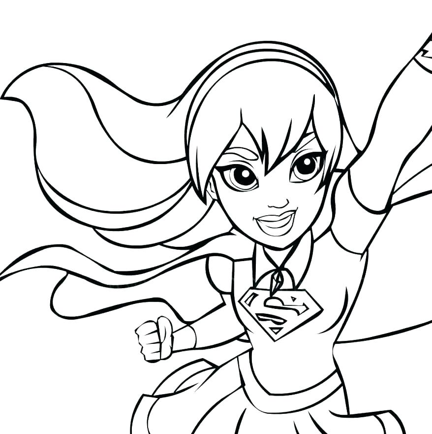 Y colorear super chica kawaii/ drawing and coloring super girl. Dc Superhero Coloring Pages at GetColorings.com | Free