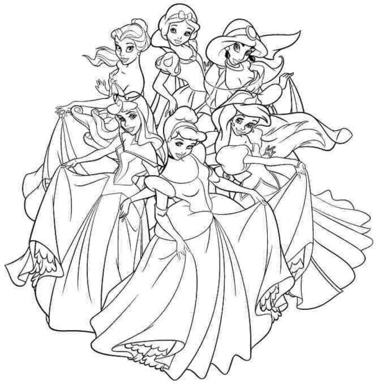 Disney Princess Coloring Pages For Adults at GetColorings ... | all disney princess coloring pages printable