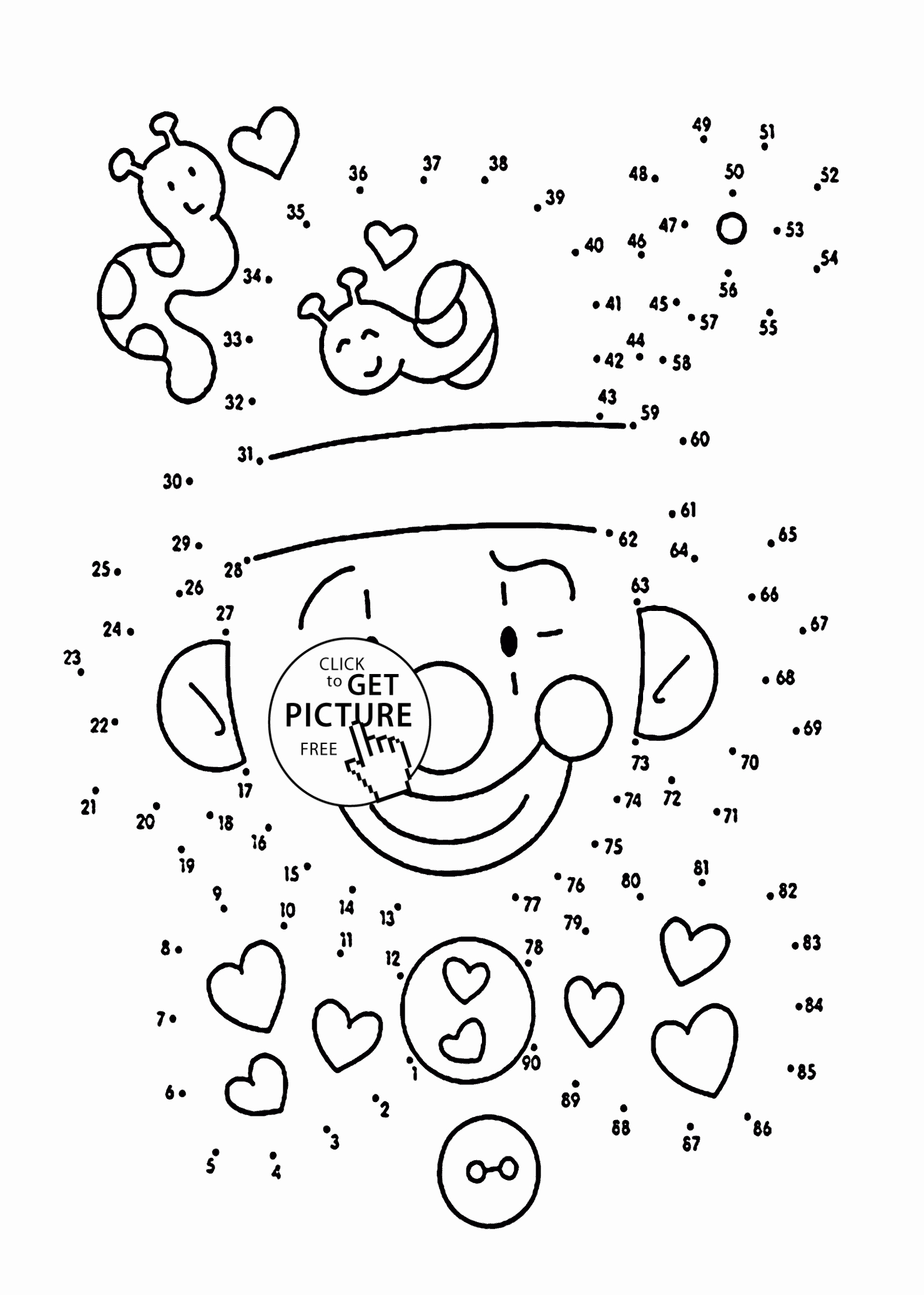 Dot Coloring Pages At Getcolorings