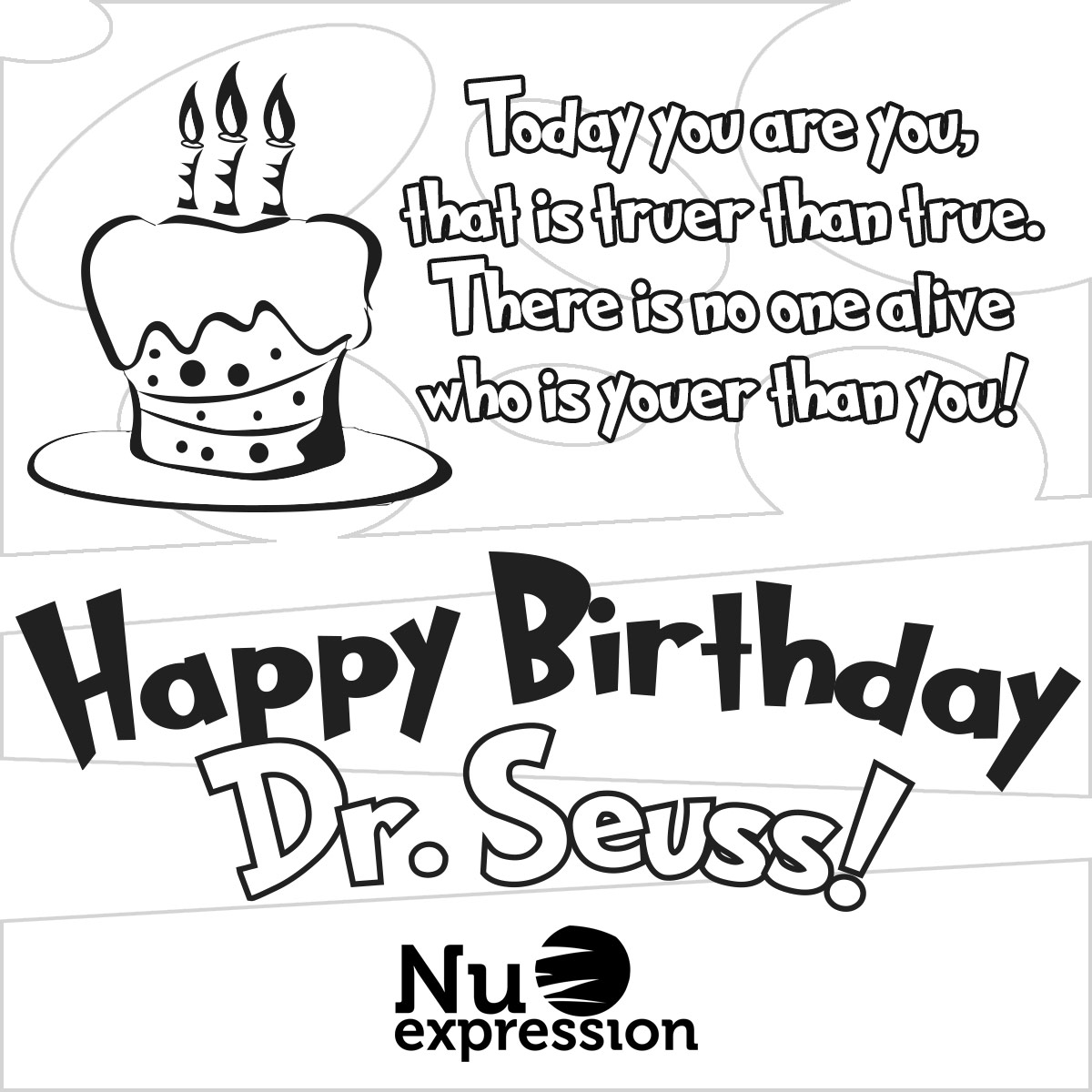 Dr Seuss Birthday Coloring Pages At Getcolorings