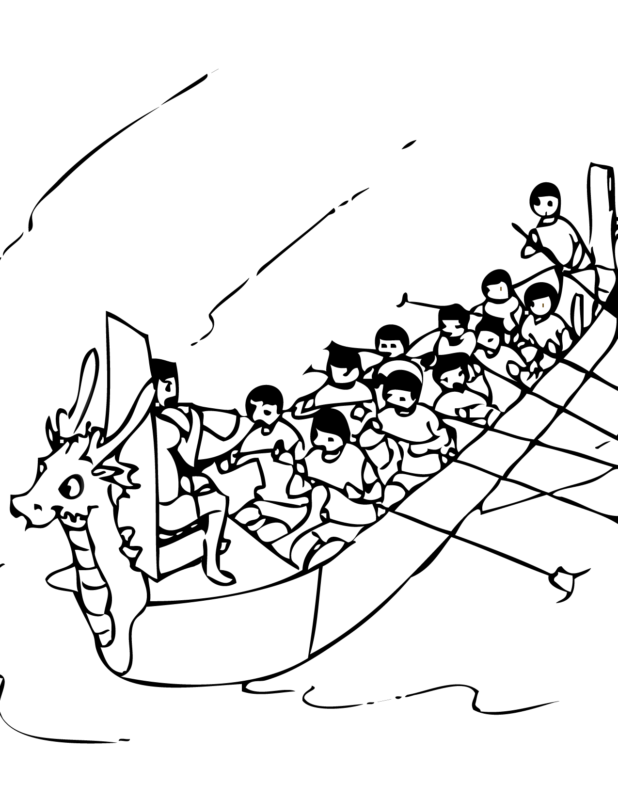 Dragon Boat Coloring Pages At Getcolorings