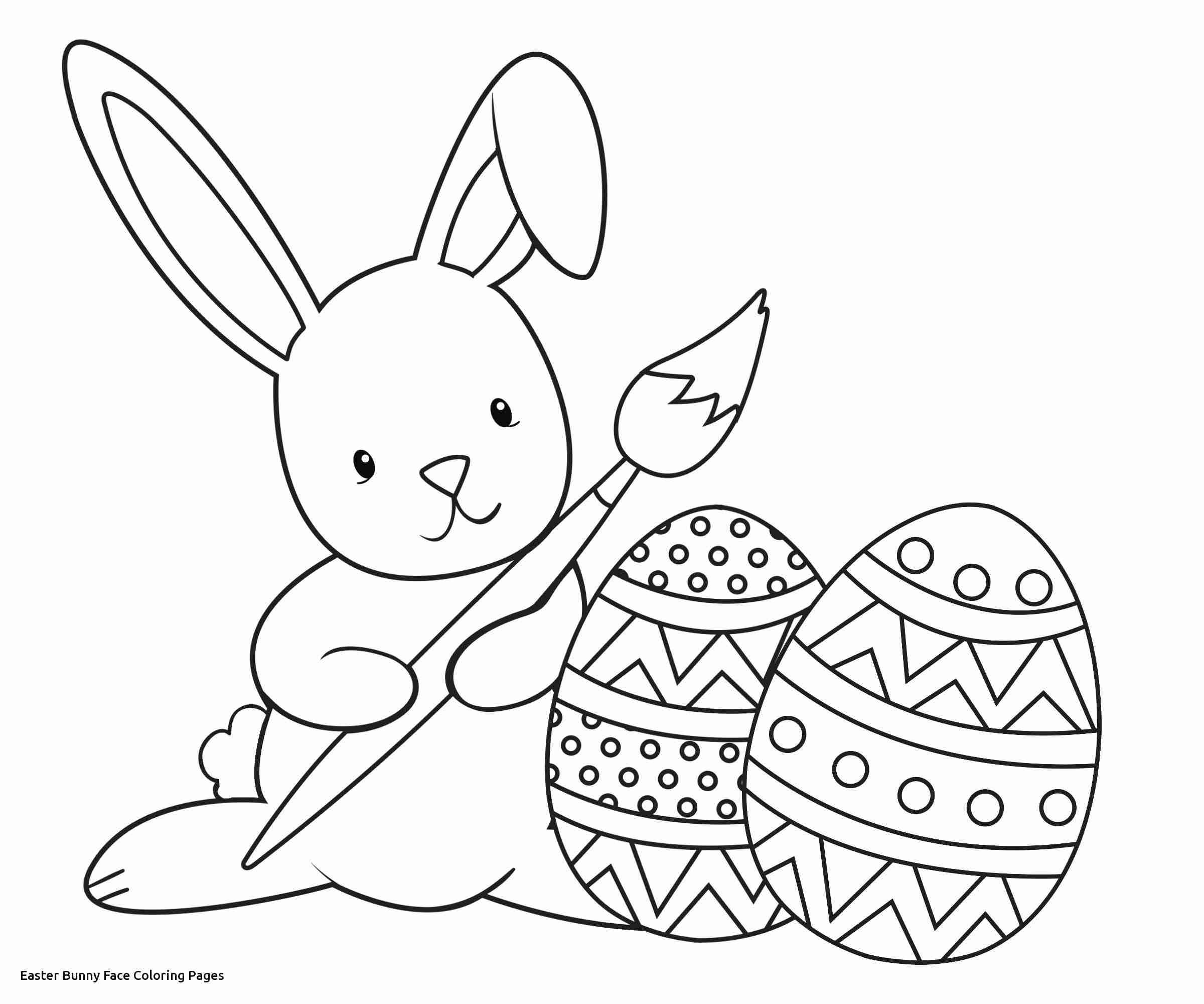 Easter Bunny Face Coloring Pages At Getcolorings