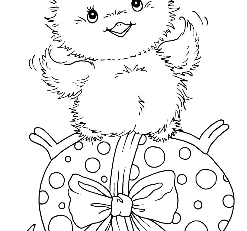 easter chick coloring pages at getcolorings  free