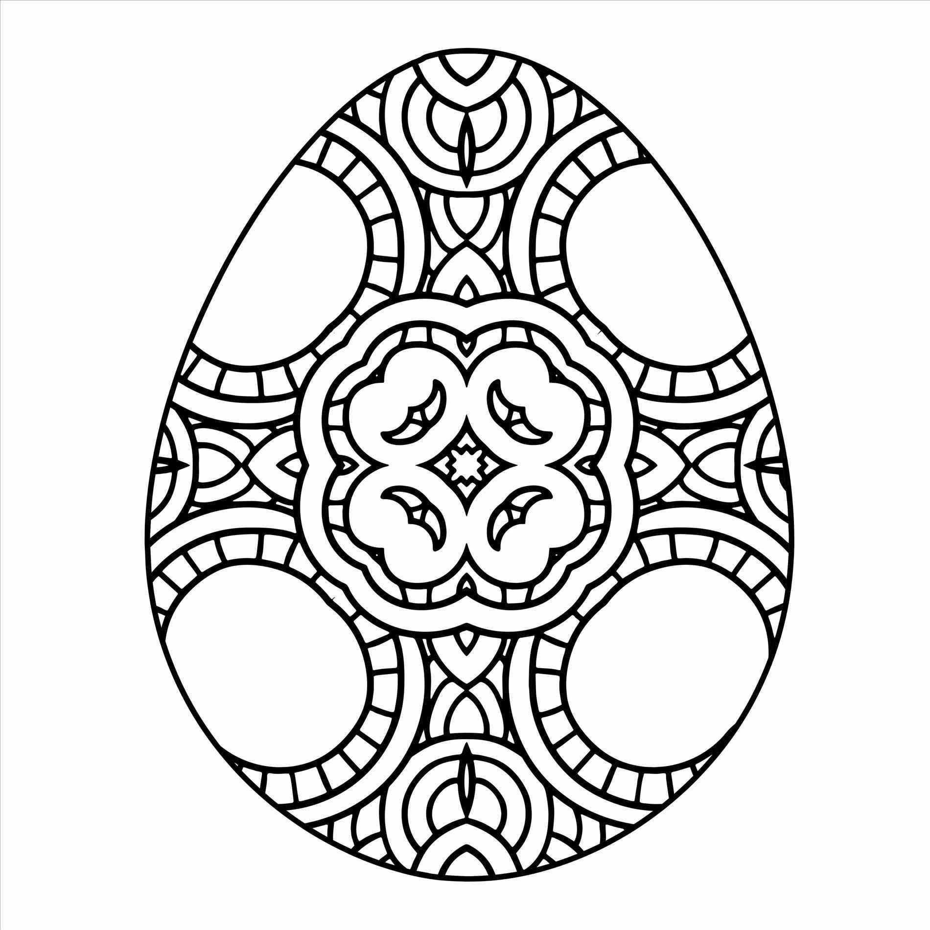 Easter Egg Coloring Pages For Adults At Getcolorings