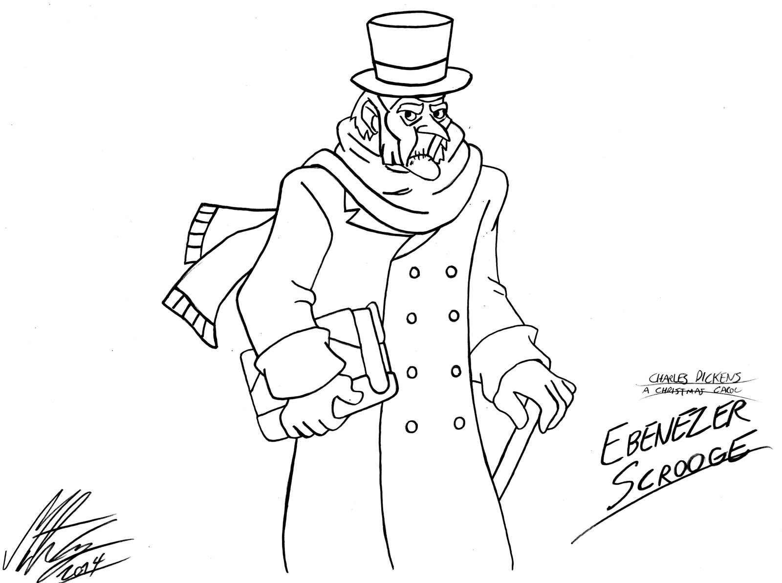 Ebenezer Scrooge Coloring Pages At Getcolorings