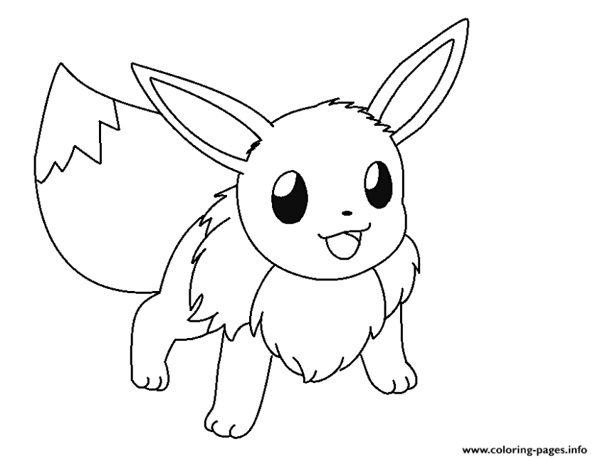 eevee and pikachu coloring pages at getcolorings