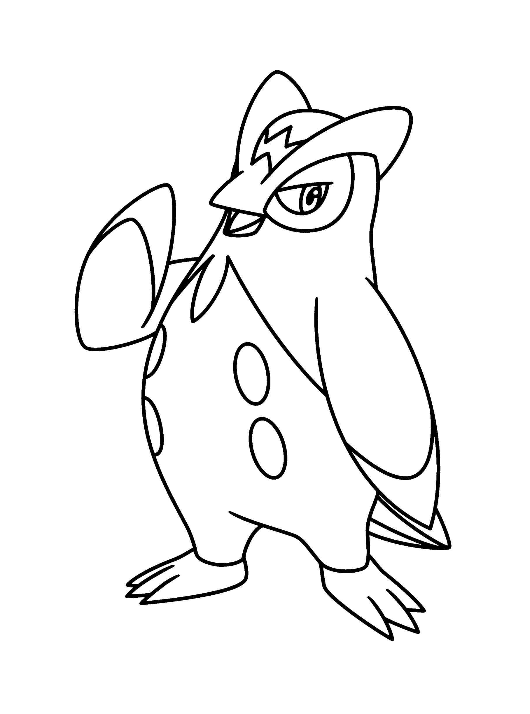 Empoleon Pokemon Coloring Printable