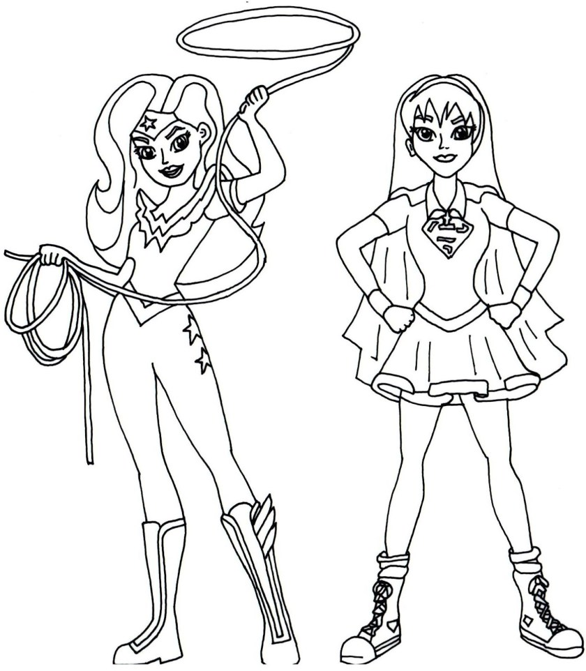 female superhero coloring pages at getcolorings  free