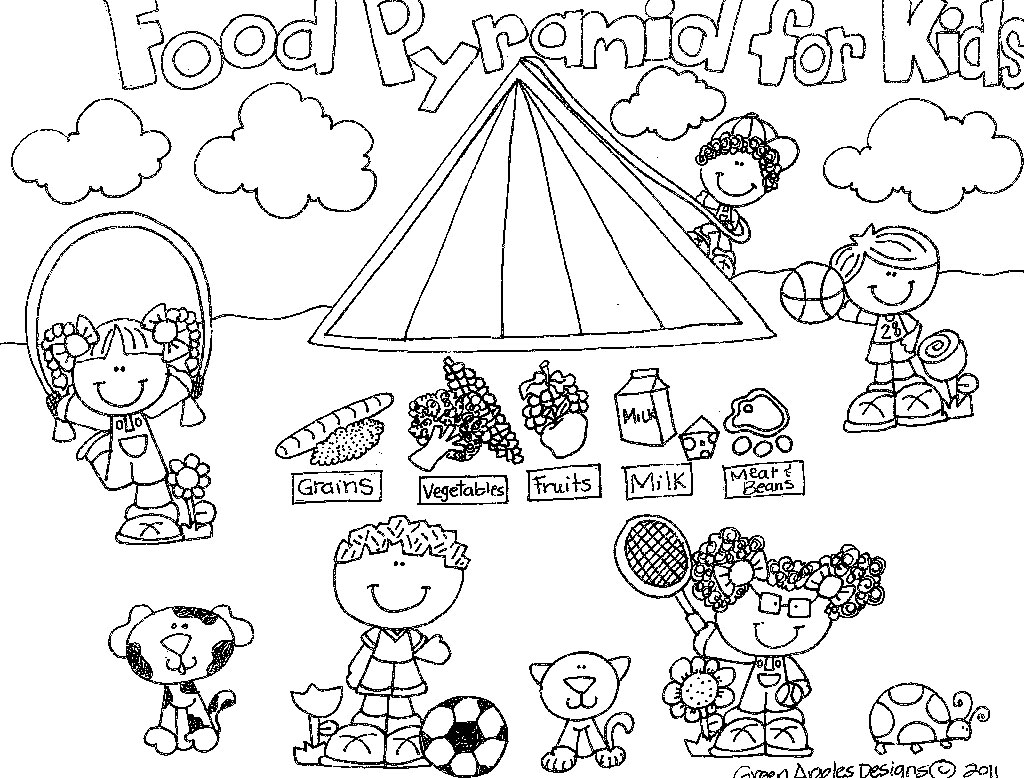 Food Plate Coloring Page At Getcolorings