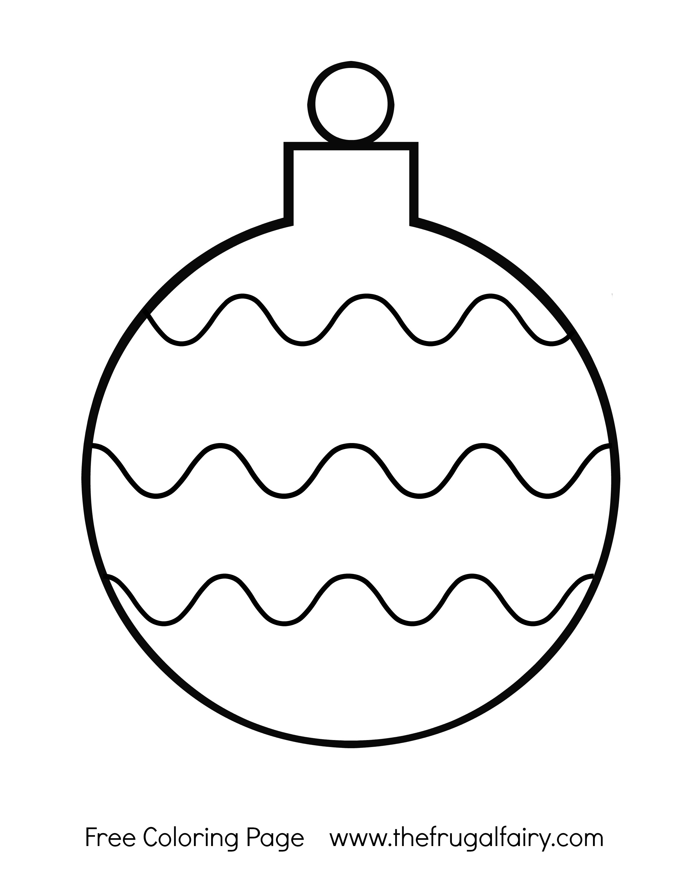 Free Christmas Ornament Coloring Pages At Getcolorings