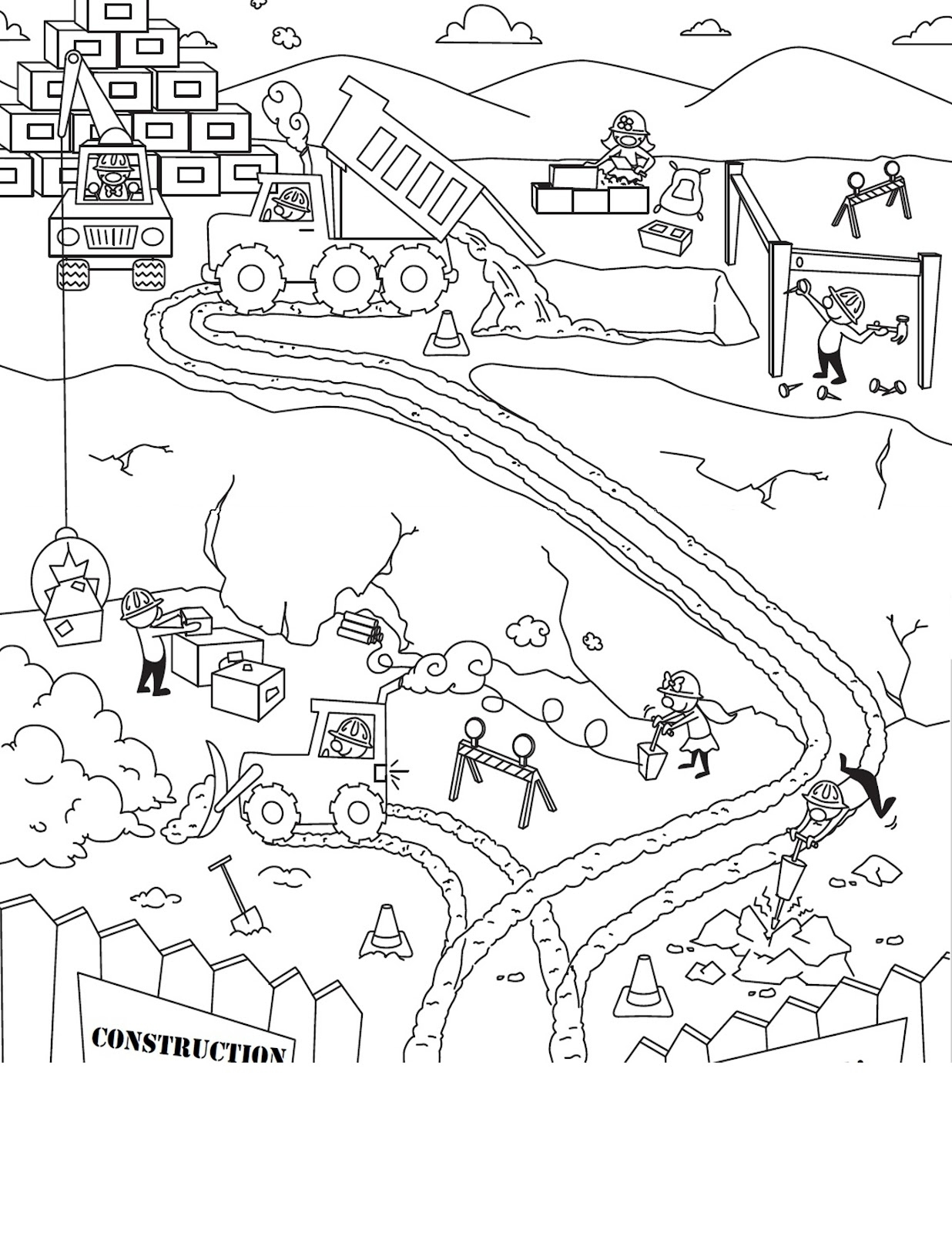 Free Construction Coloring Pages At Getcolorings