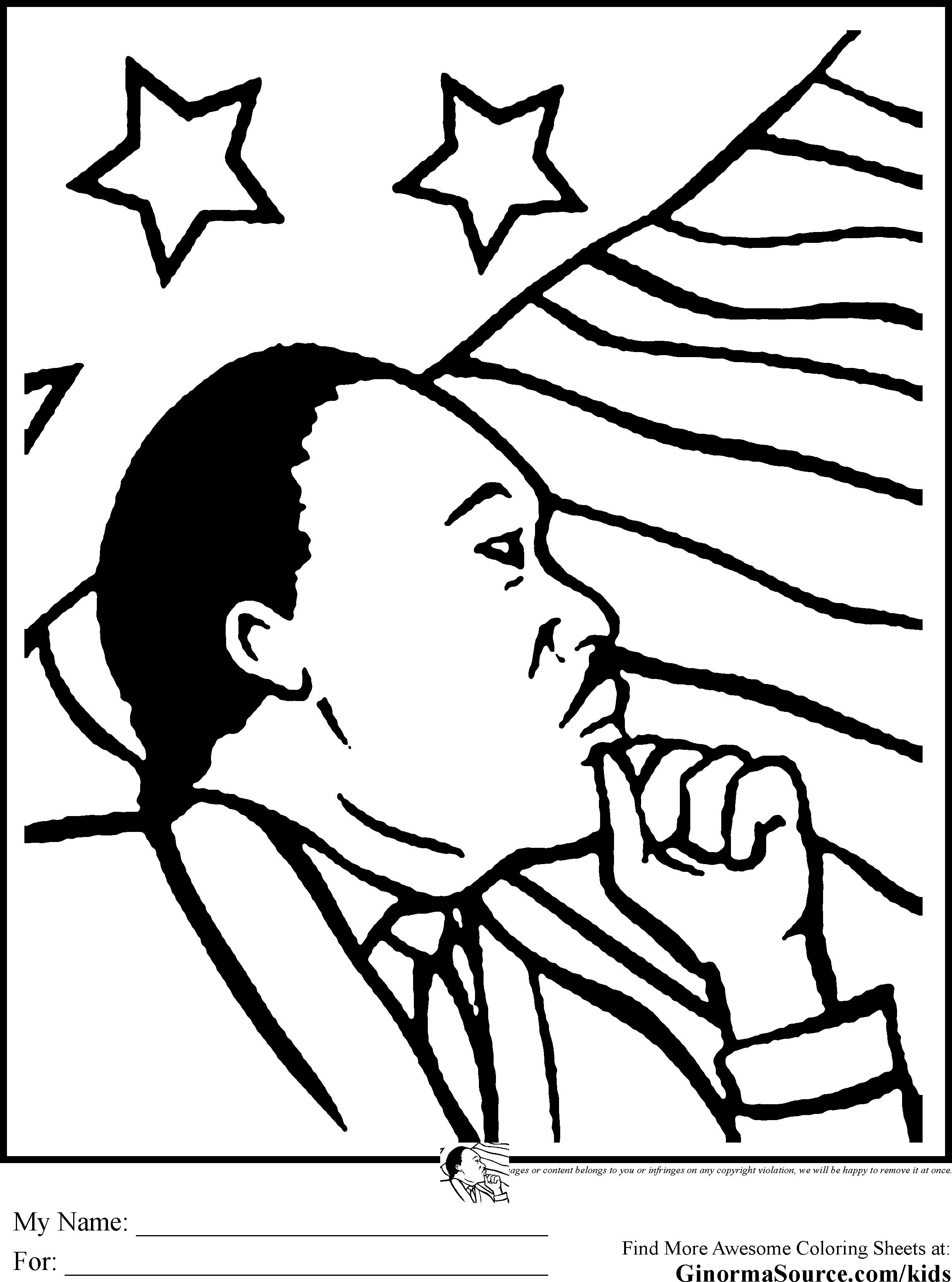 Free Mlk Coloring Pages At Getcolorings