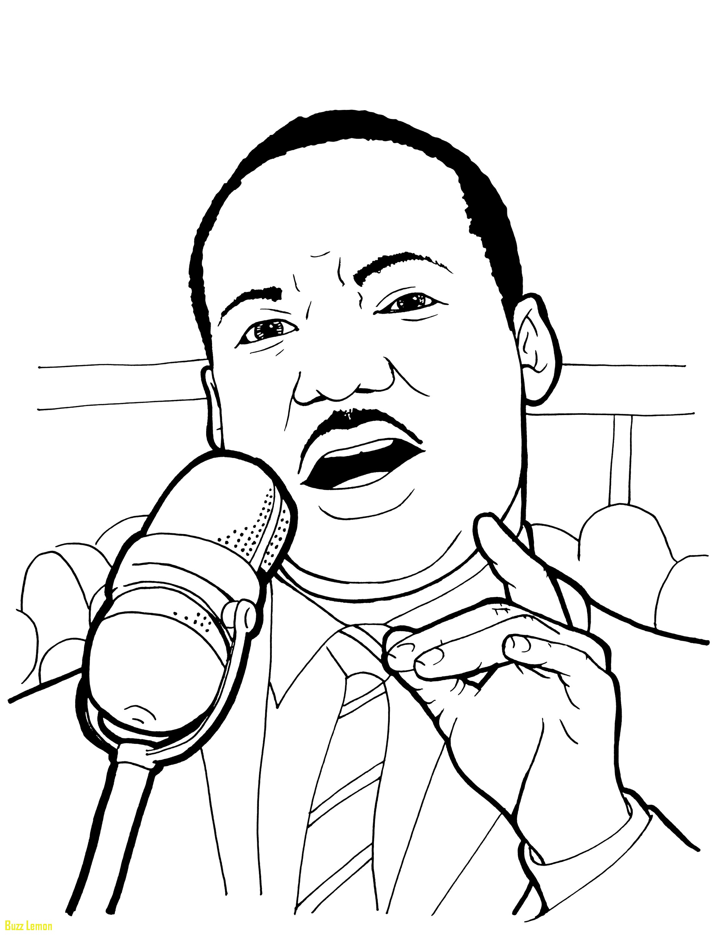 Free Printable Martin Luther King Coloring Pages At
