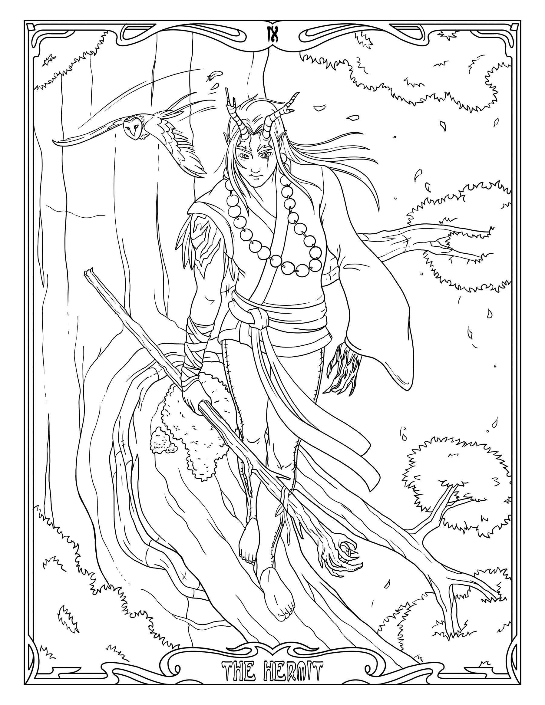 Free Tarot Card Coloring Pages At Getcolorings