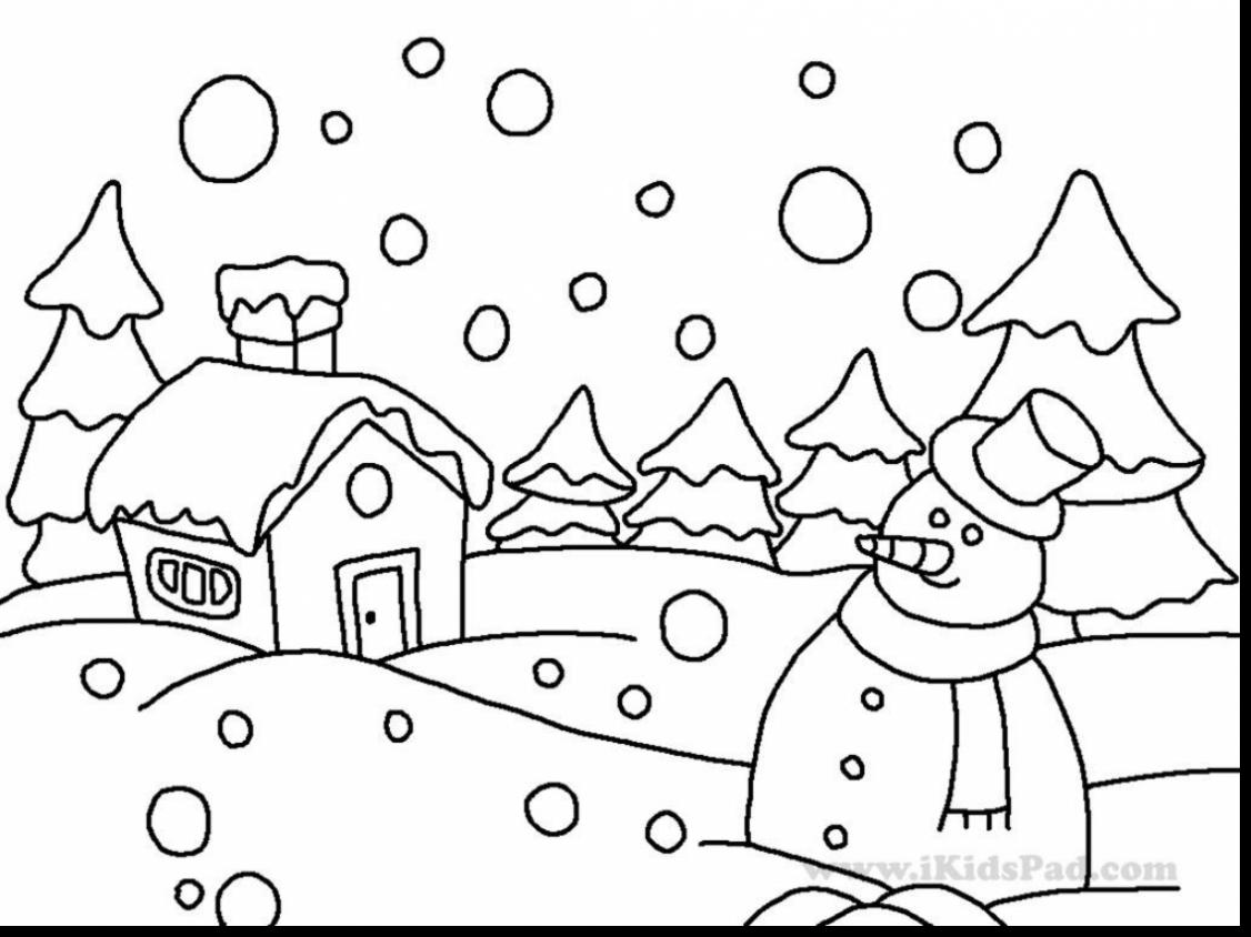 Free Winter Coloring Pages For Preschoolers At Getcolorings