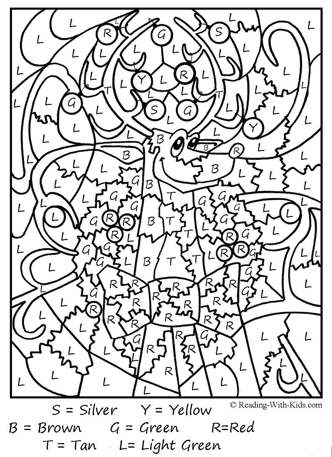 French Color By Numbers Coloring Pages At Getcolorings