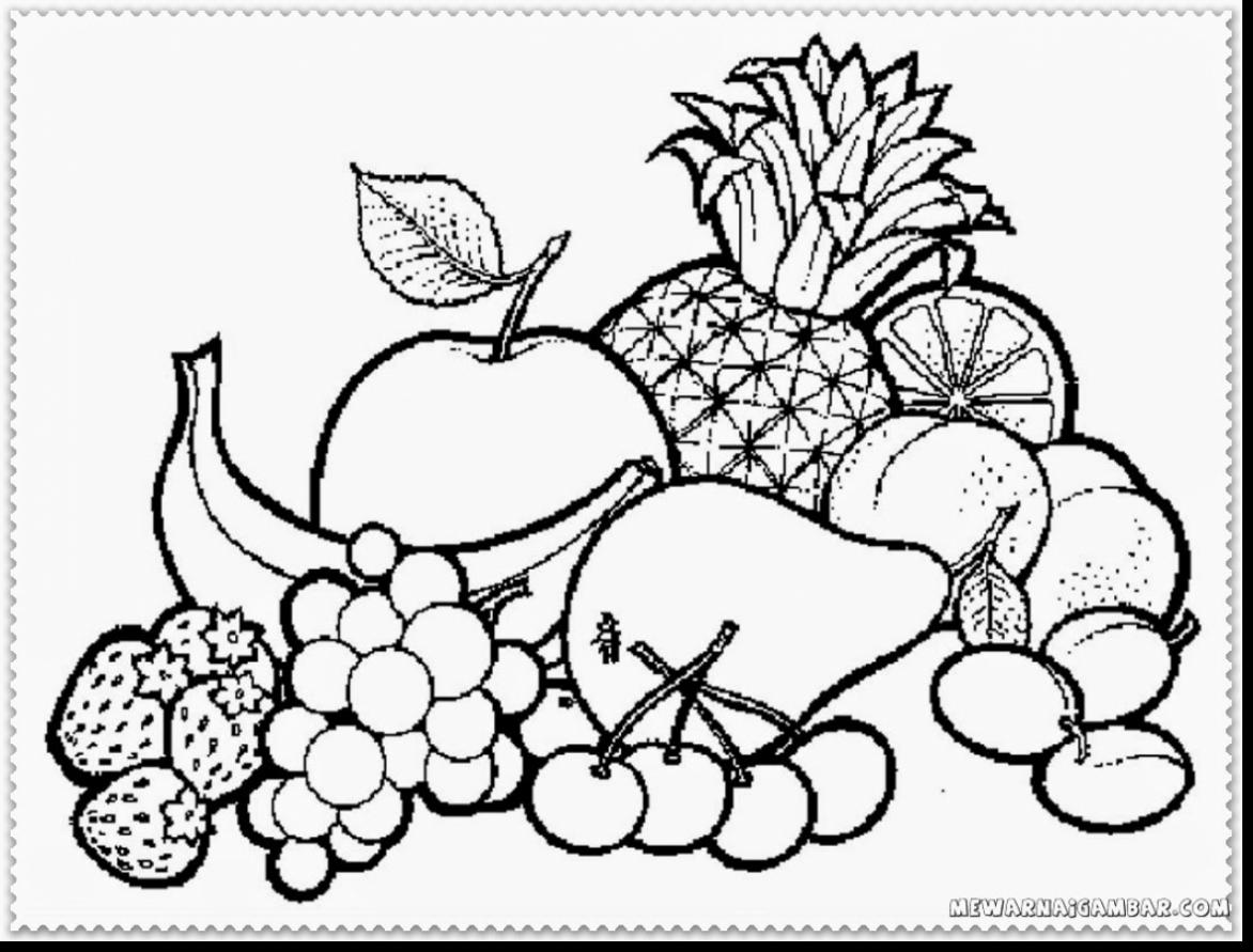 Fruit Bowl Coloring Page At Getcolorings