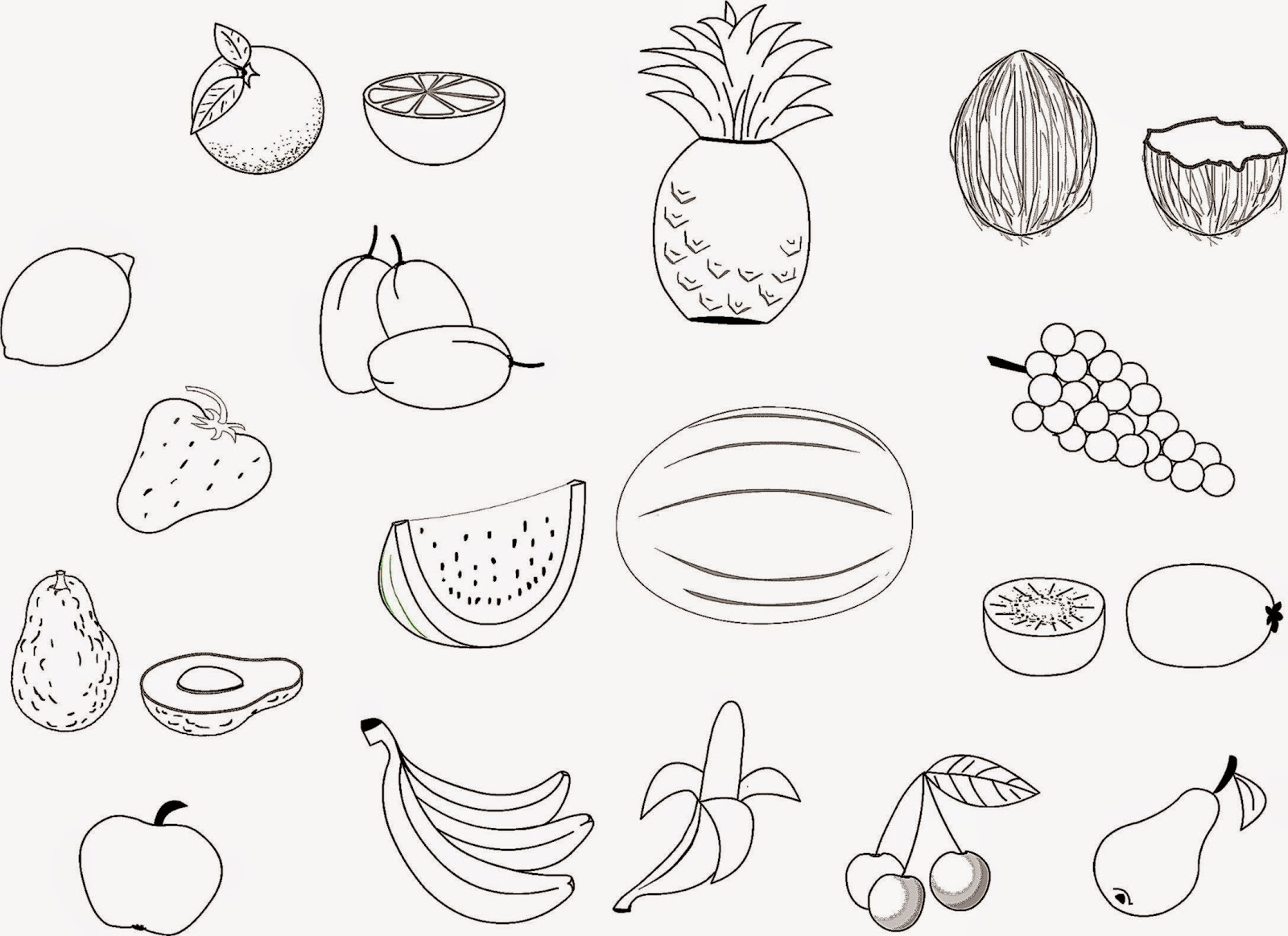 Fruit Coloring Pages At Getcolorings