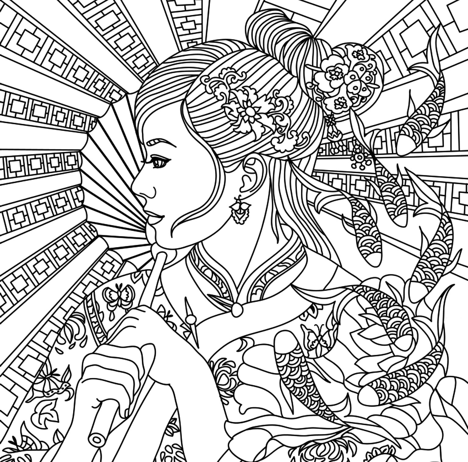 Full Size Coloring Pages For Adults At Getcolorings