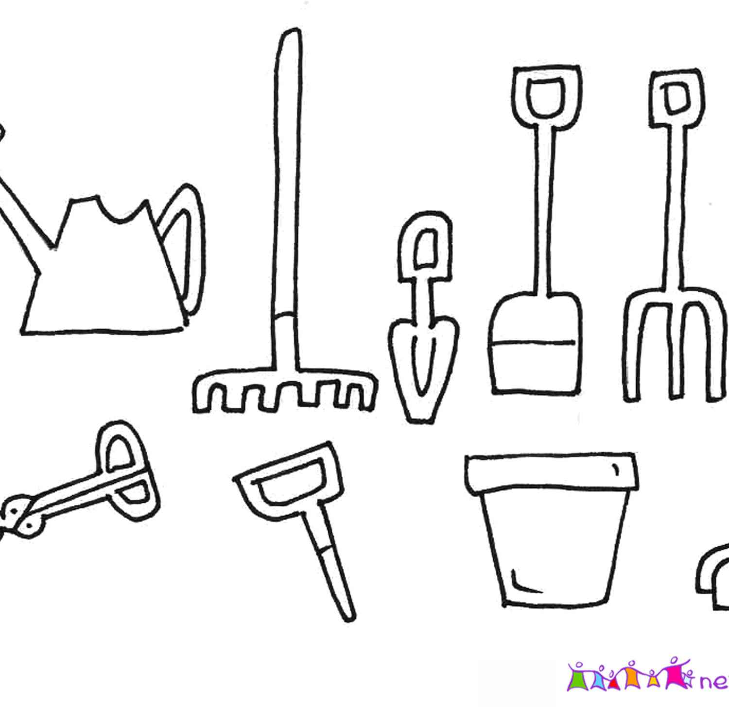 Gardening Tools Coloring Pages At Getcolorings