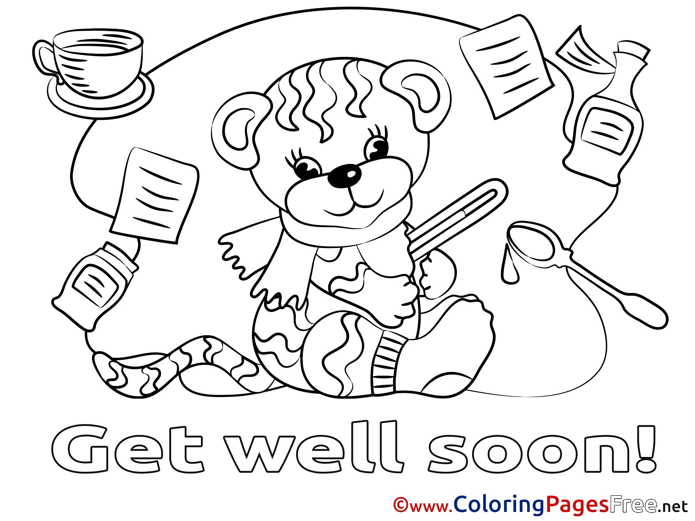 Get Well Printable Coloring Pages At Getcolorings