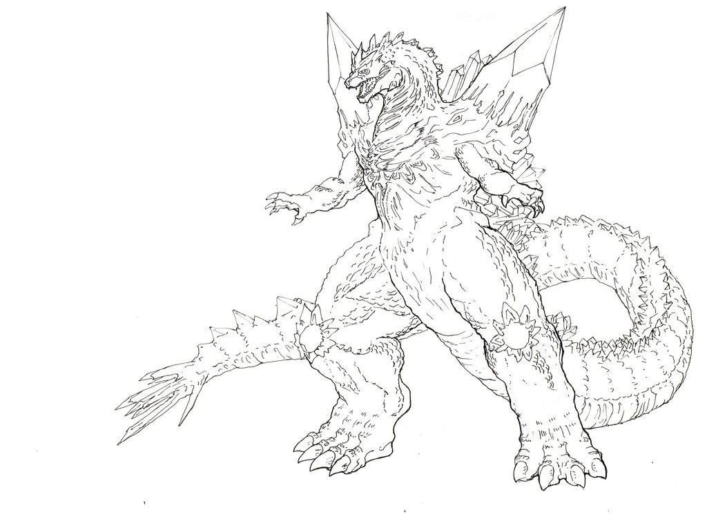 Godzilla Coloring Pages At Getcolorings