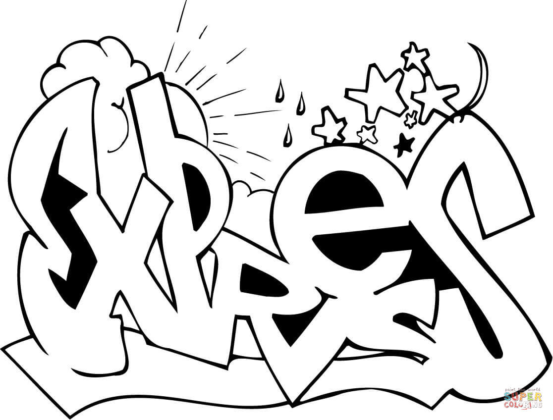 Graffiti Characters Coloring Pages At Getcolorings
