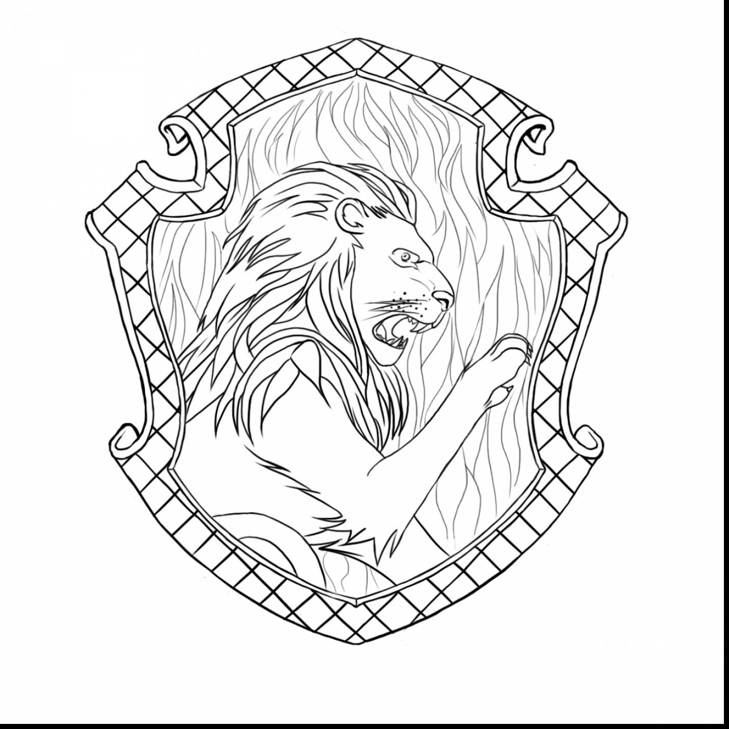 Gryffindor Coloring Page At Getcolorings