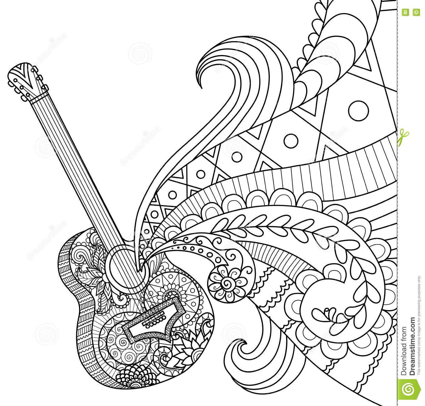 Guitar Coloring Page At Getcolorings