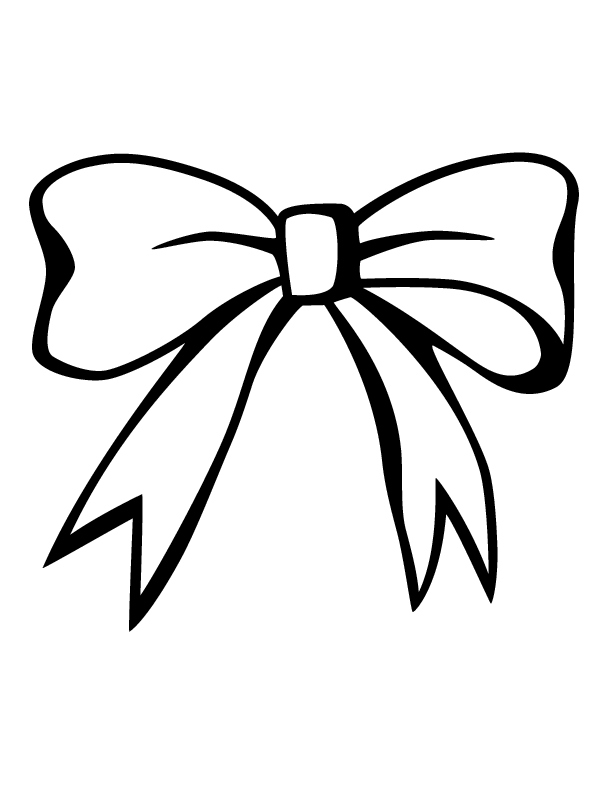 Hair Bow Clip Art Black And White | Hairstly.org