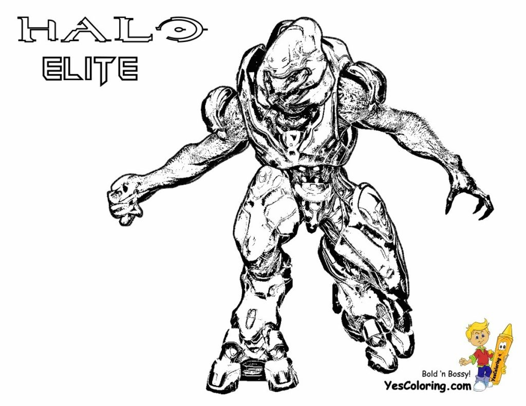 Halo Elite Coloring Pages At Getcolorings