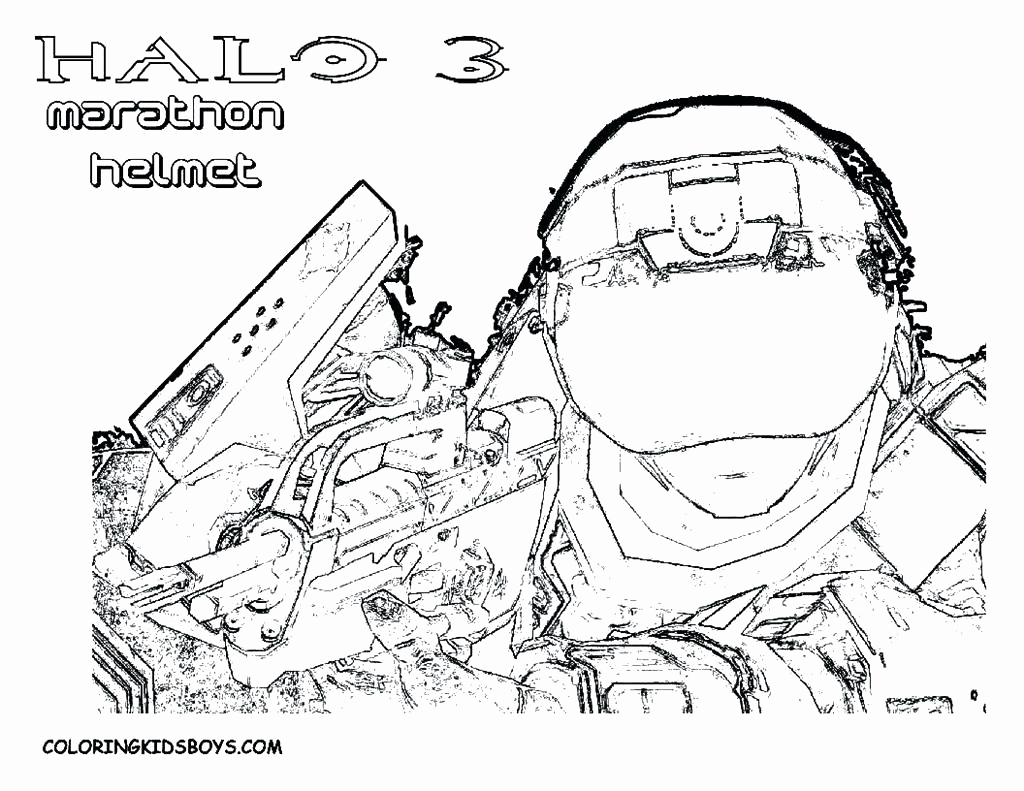 Halo Helmet Coloring Pages At Getcolorings