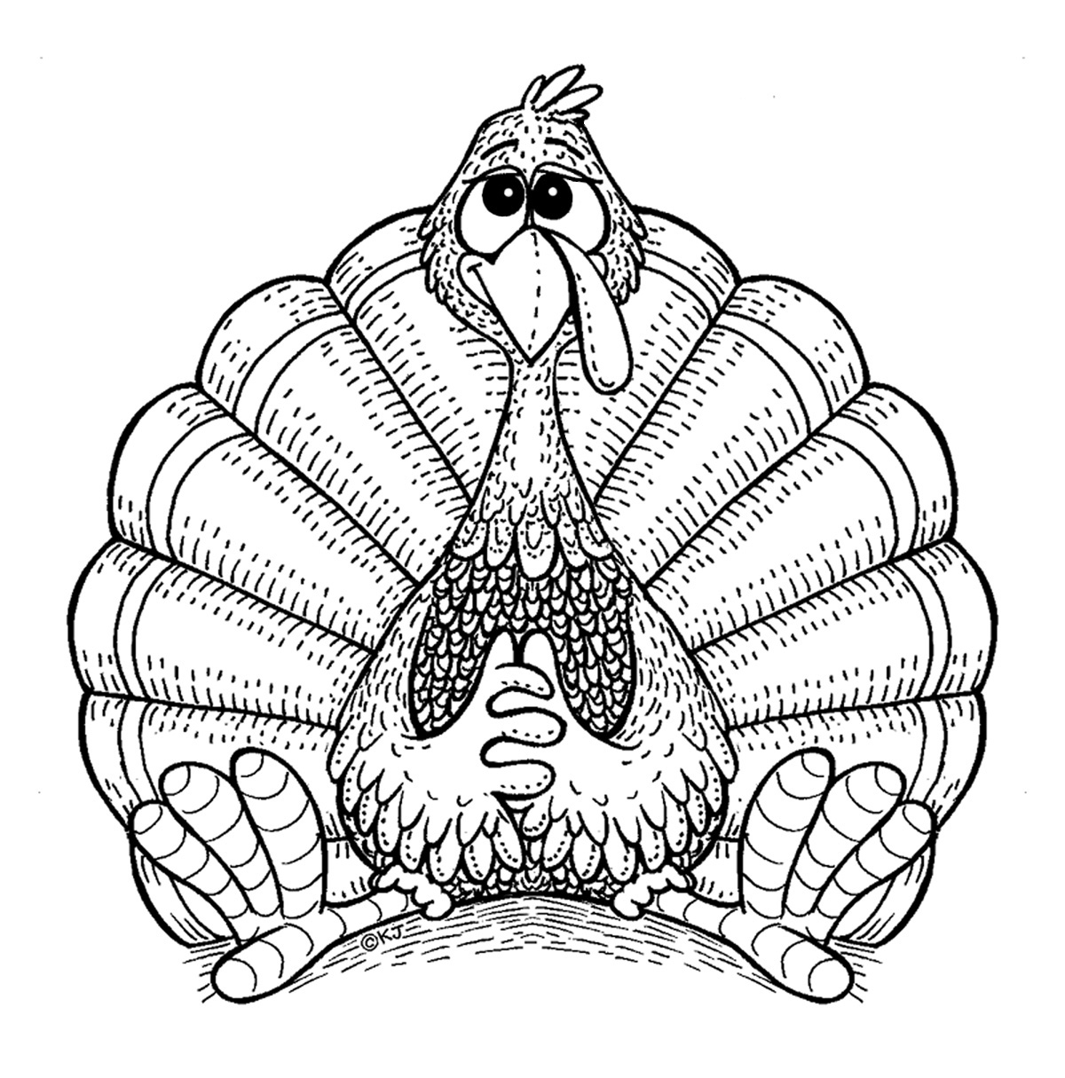 Hand Turkey Coloring Pages At Getcolorings