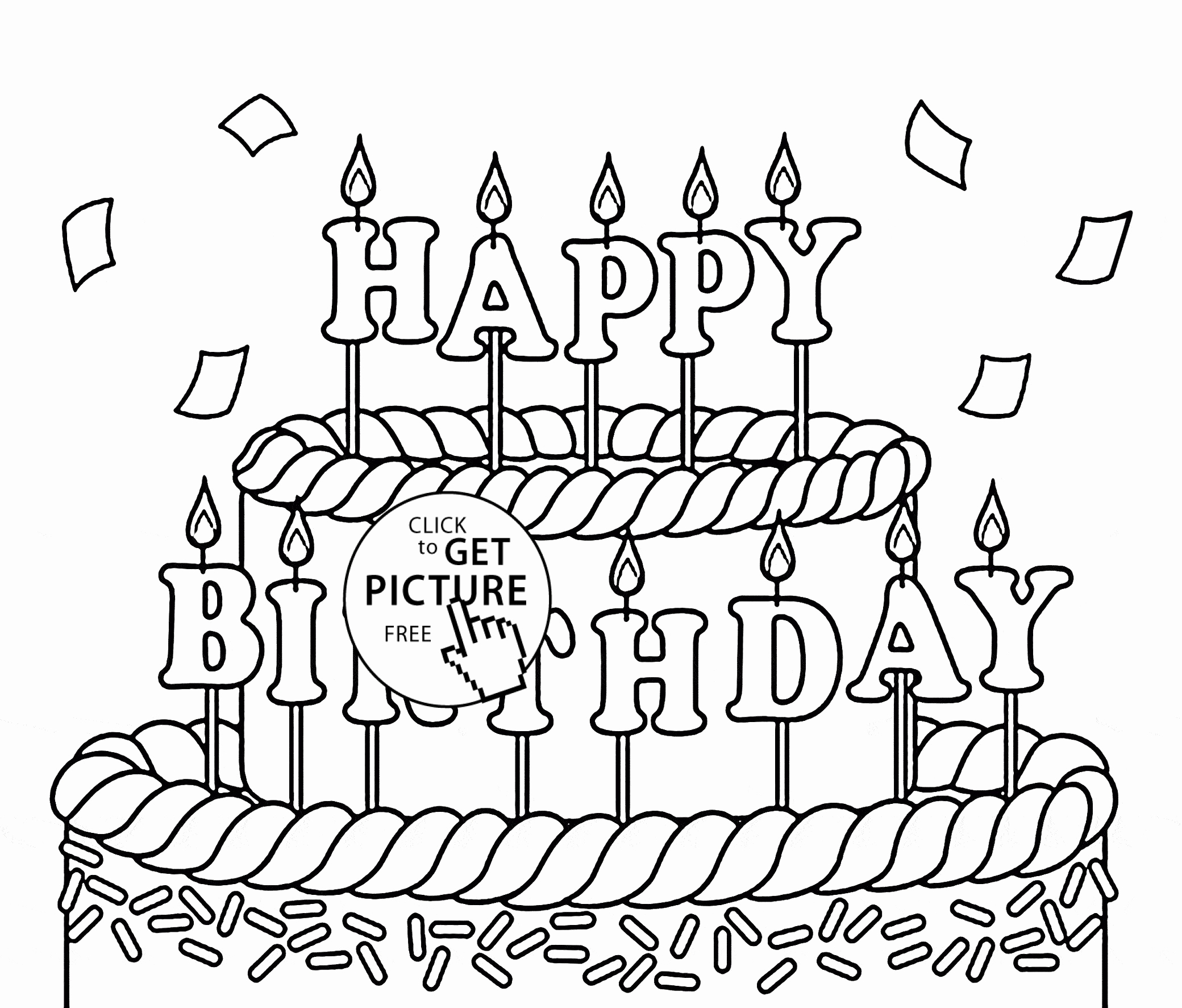 Happy Birthday Coloring Pages To Print At Getcolorings