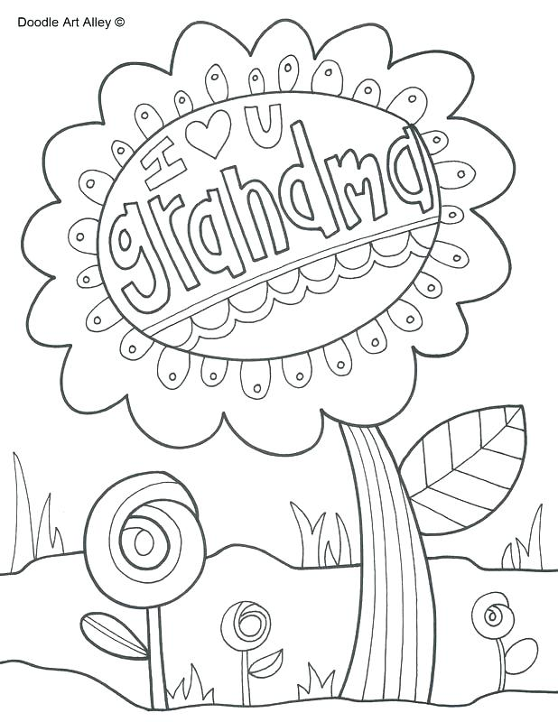 happy birthday grandma coloring pages at getcolorings