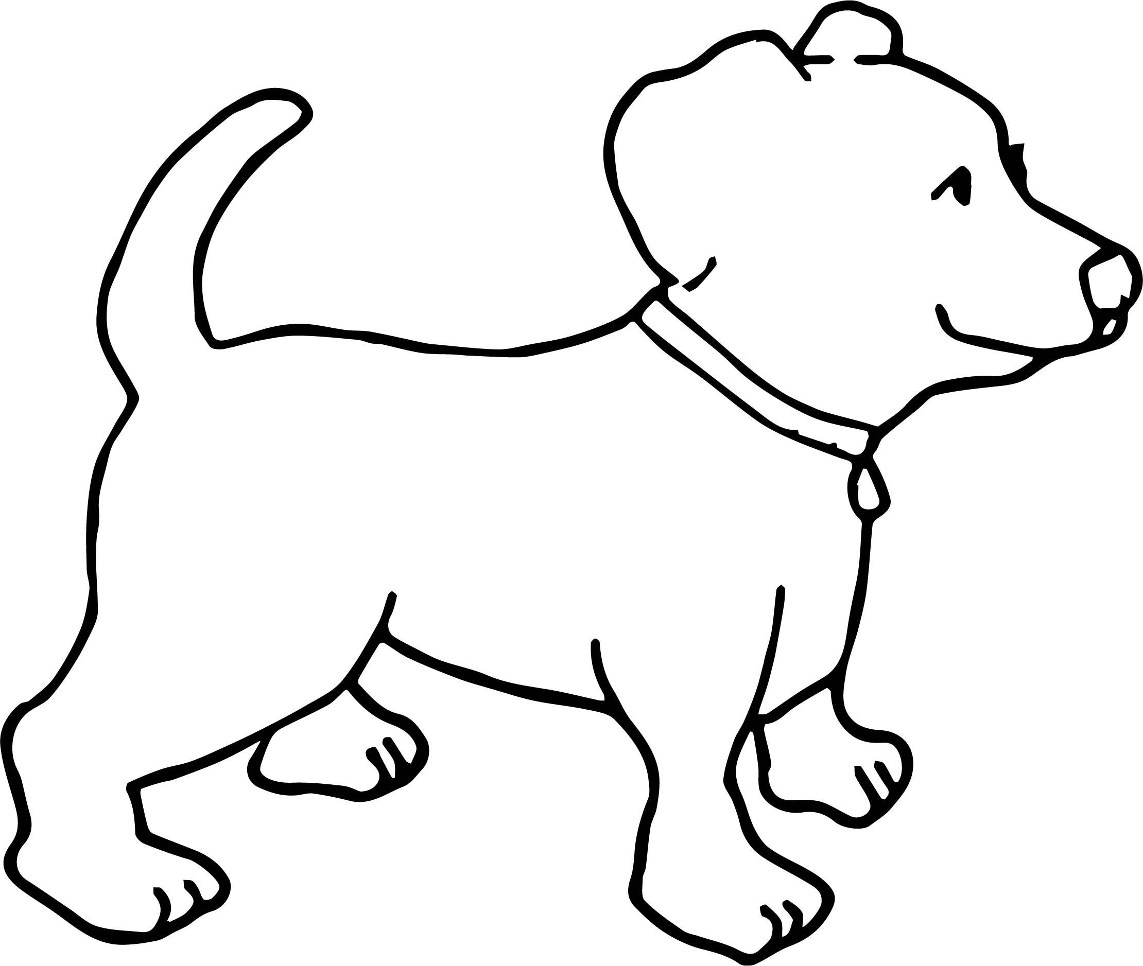 Happy Dog Coloring Pages At Getcolorings