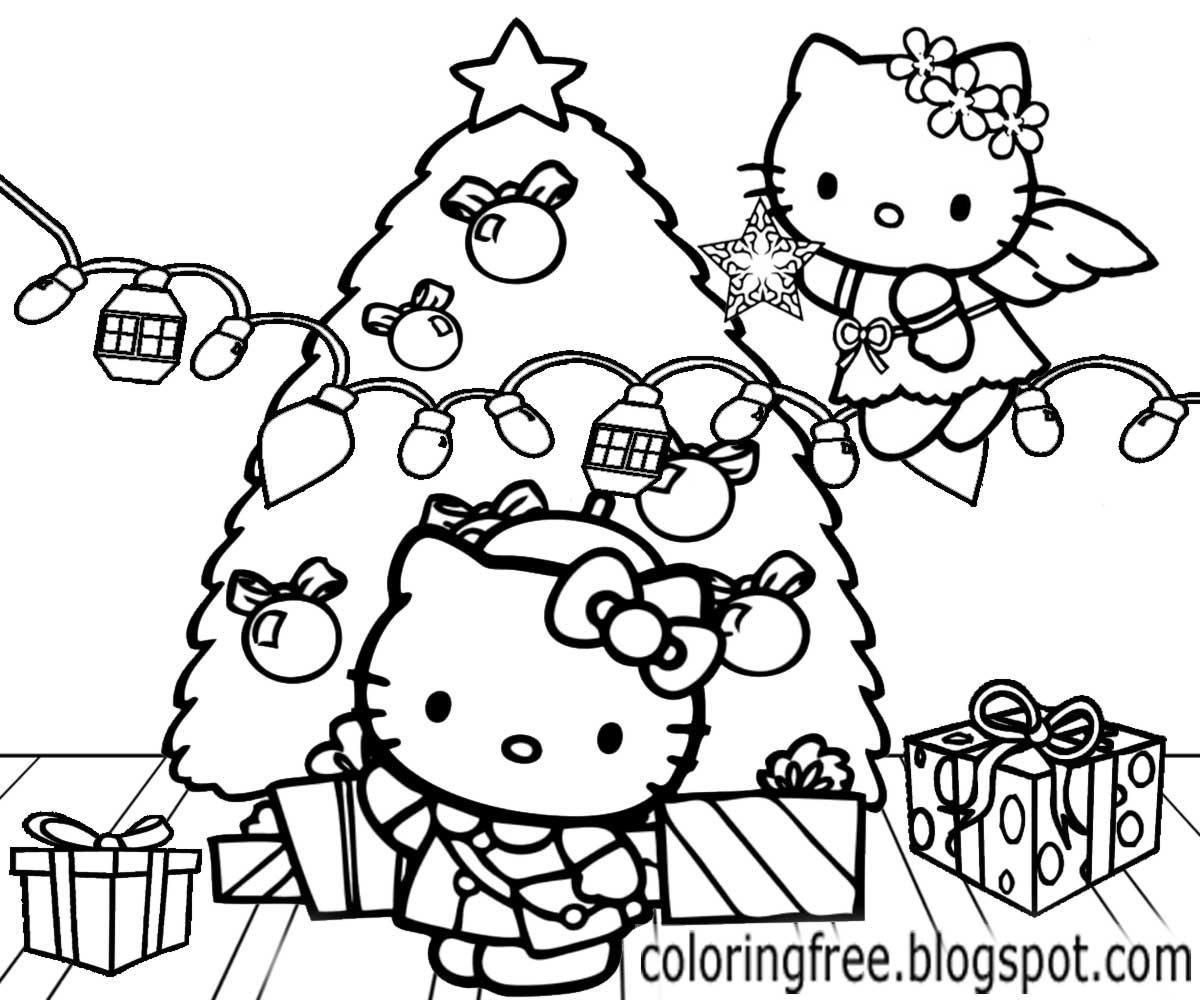 Hello Kitty Christmas Printable Coloring Pages At