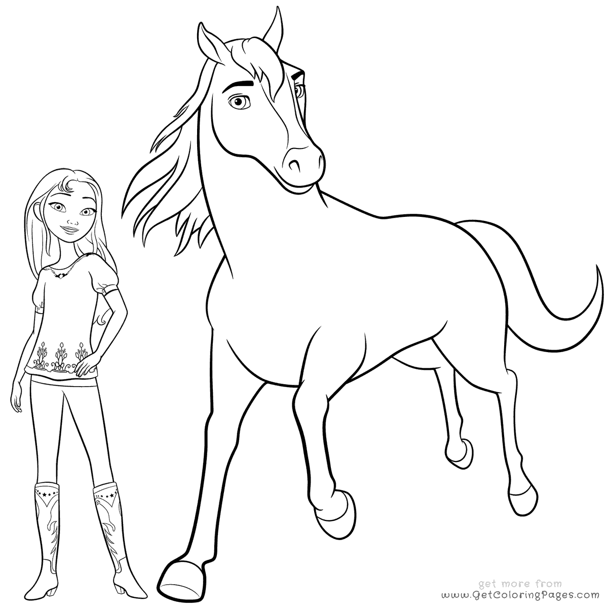 Horse Coloring Pages For Girls At Getcolorings