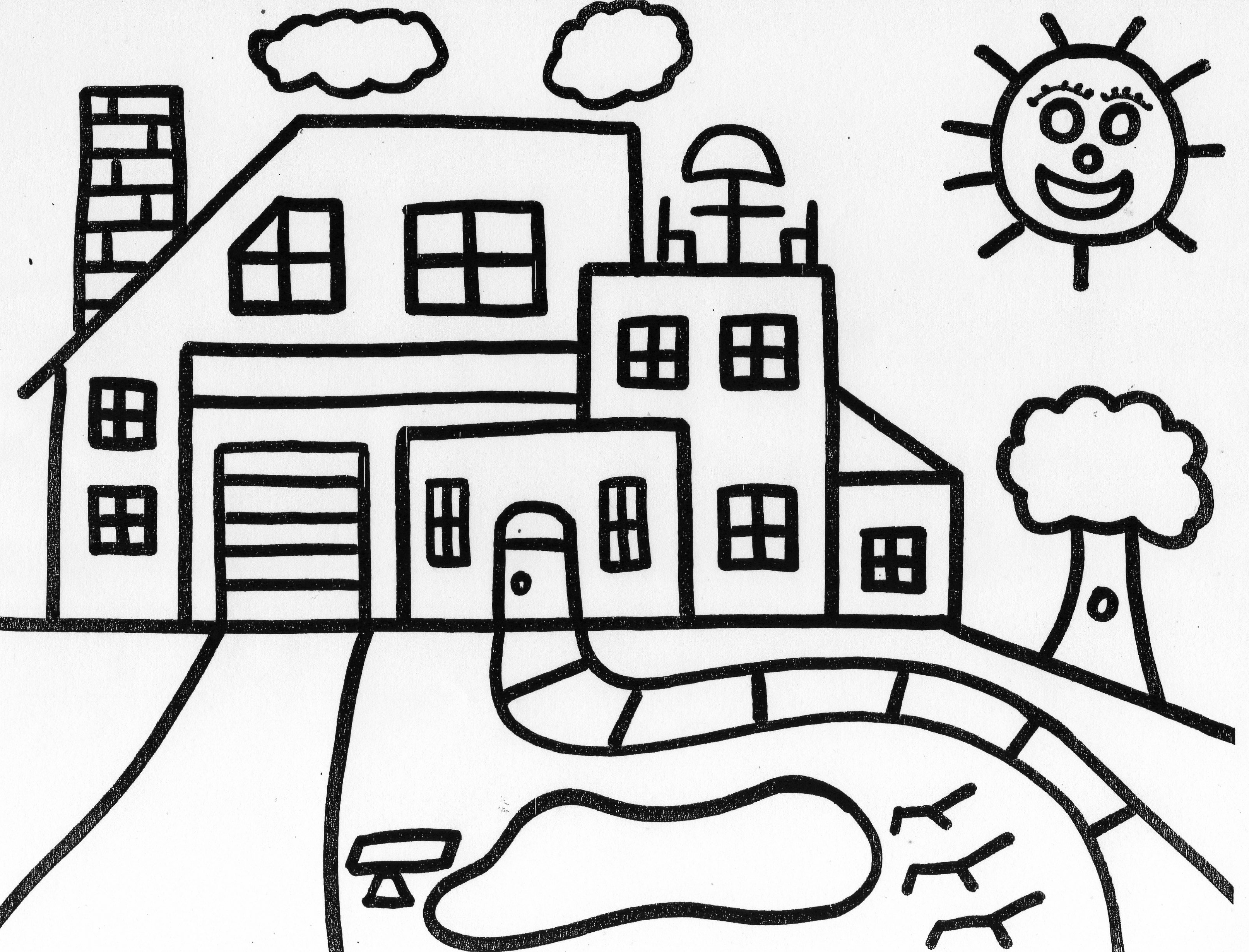 Monster House Coloring Page At Getcolorings