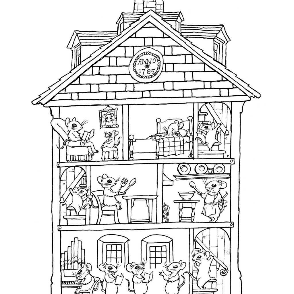 House Interior Coloring Pages At Getcolorings