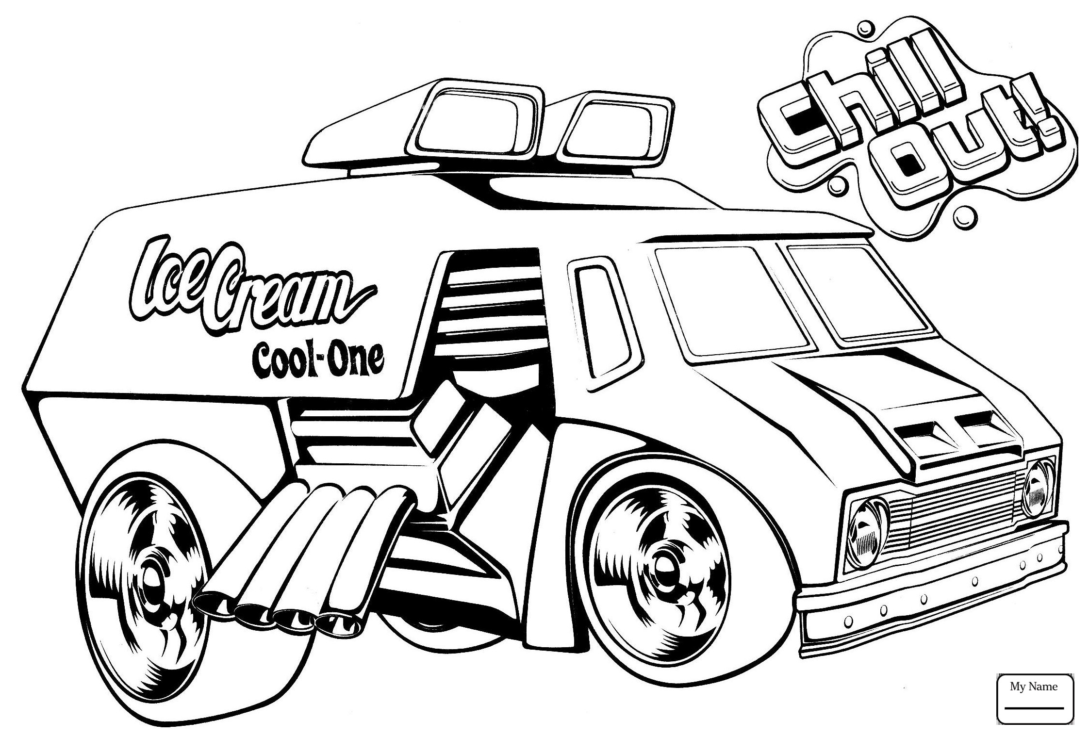 Ice Cream Truck Coloring Page At Getcolorings