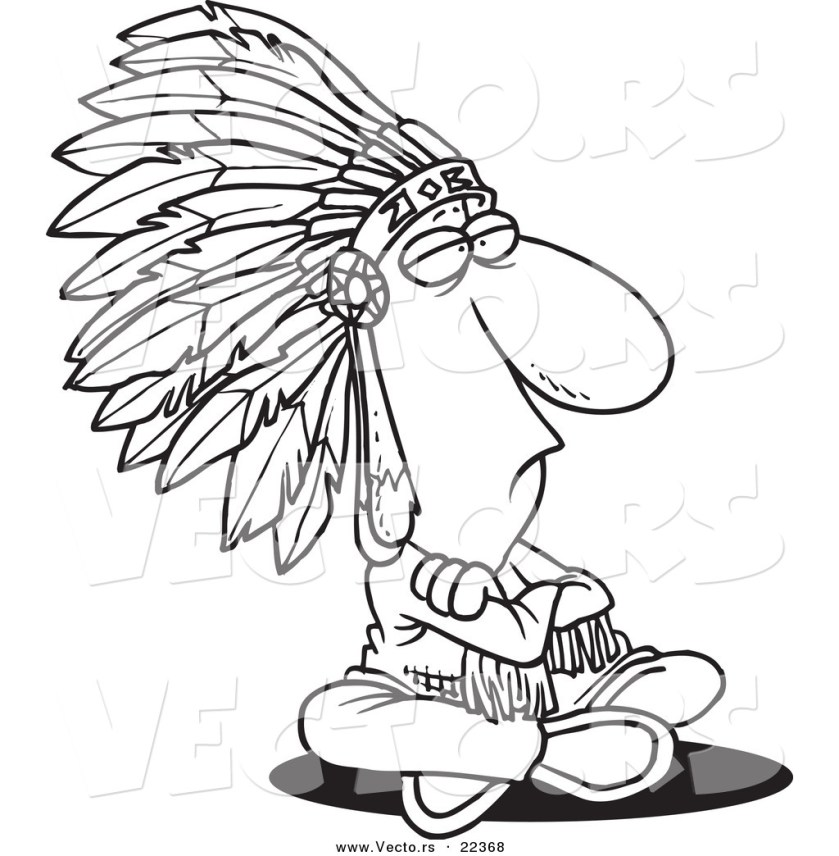 indian chief coloring page at getcolorings  free