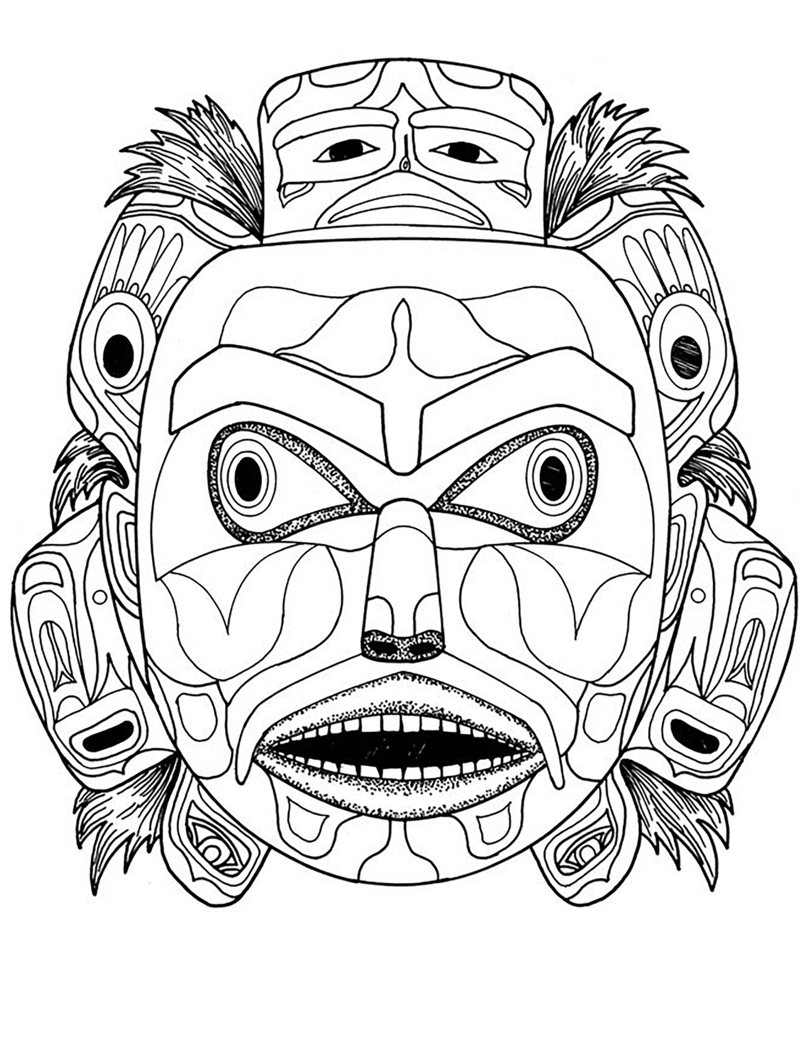 Indian Head Coloring Page At Getcolorings