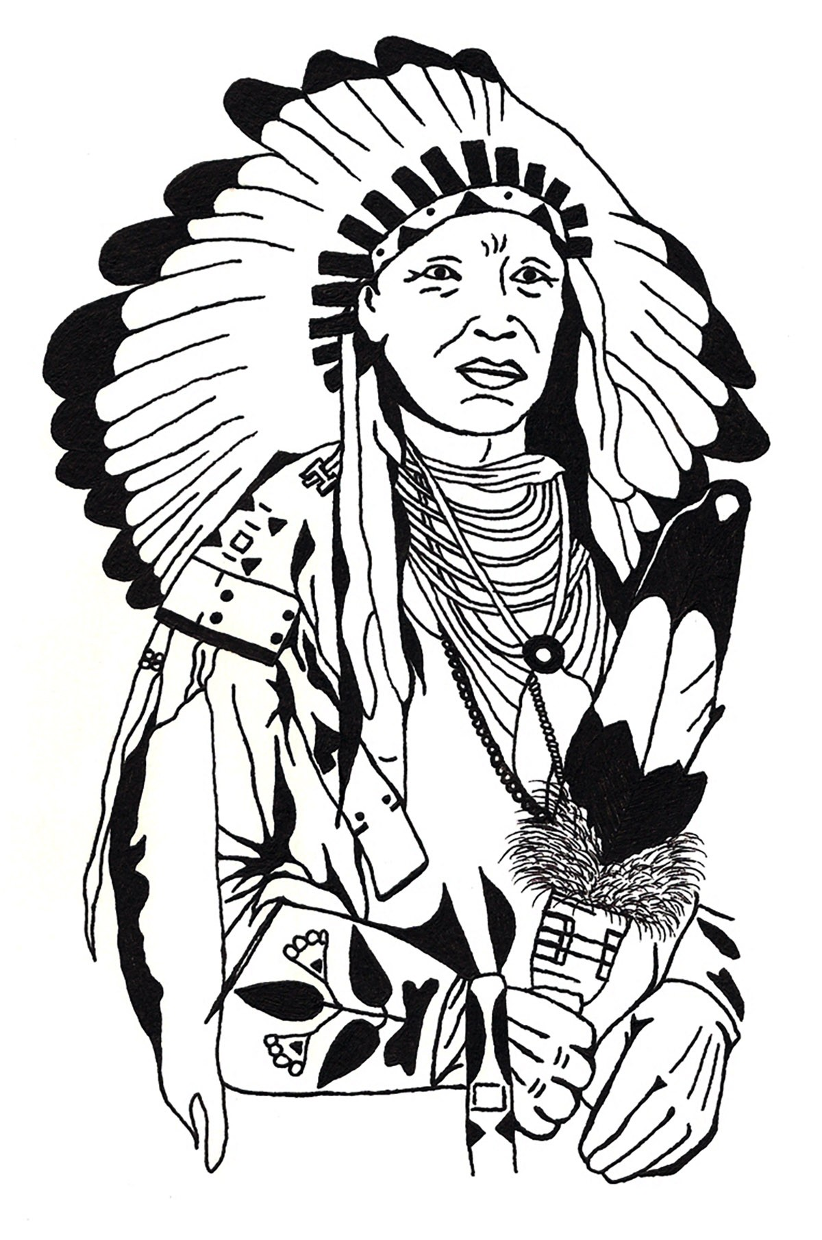 Indian Headdress Coloring Page At Getcolorings