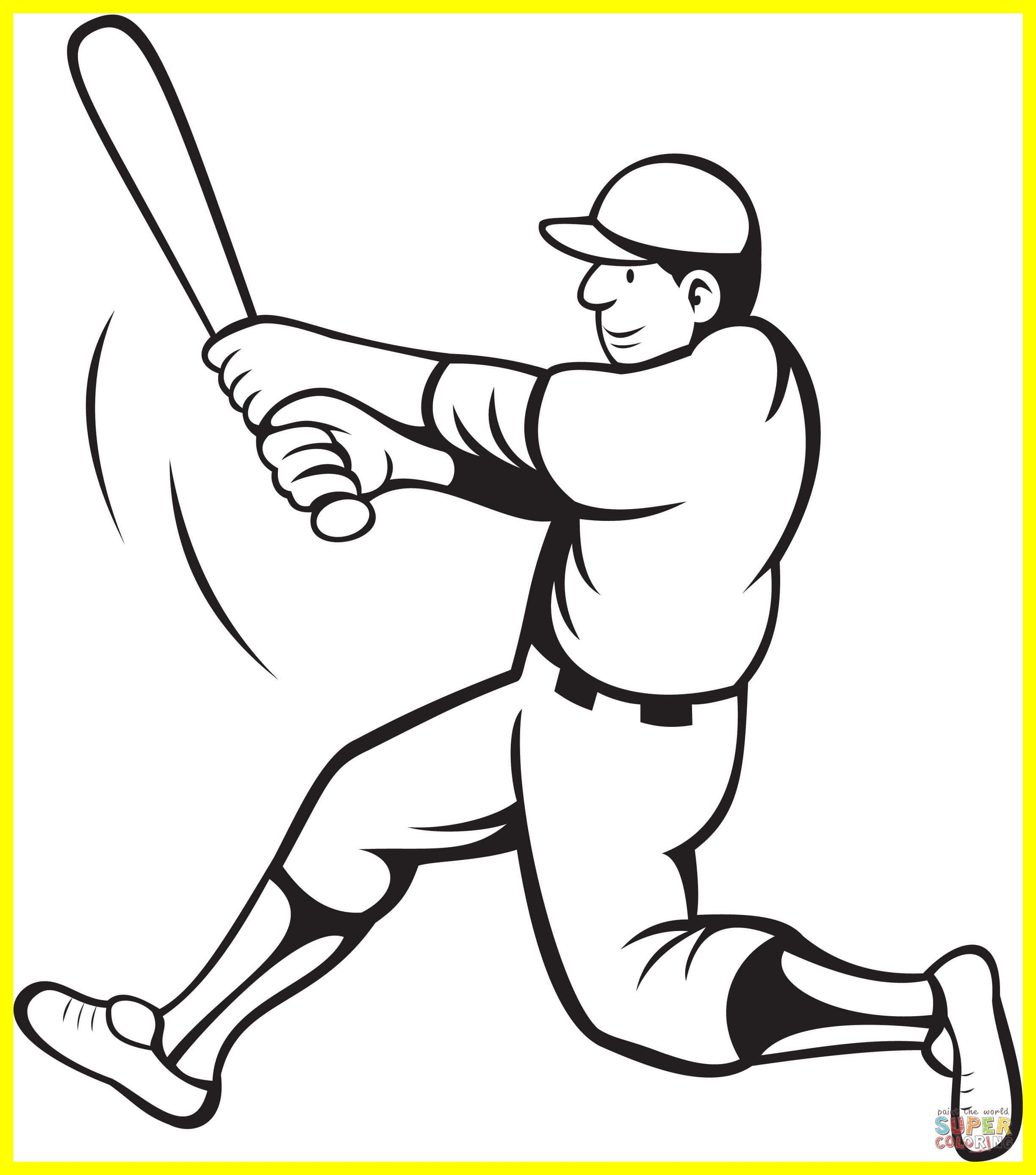 Jackie Robinson Coloring Page At Getcolorings